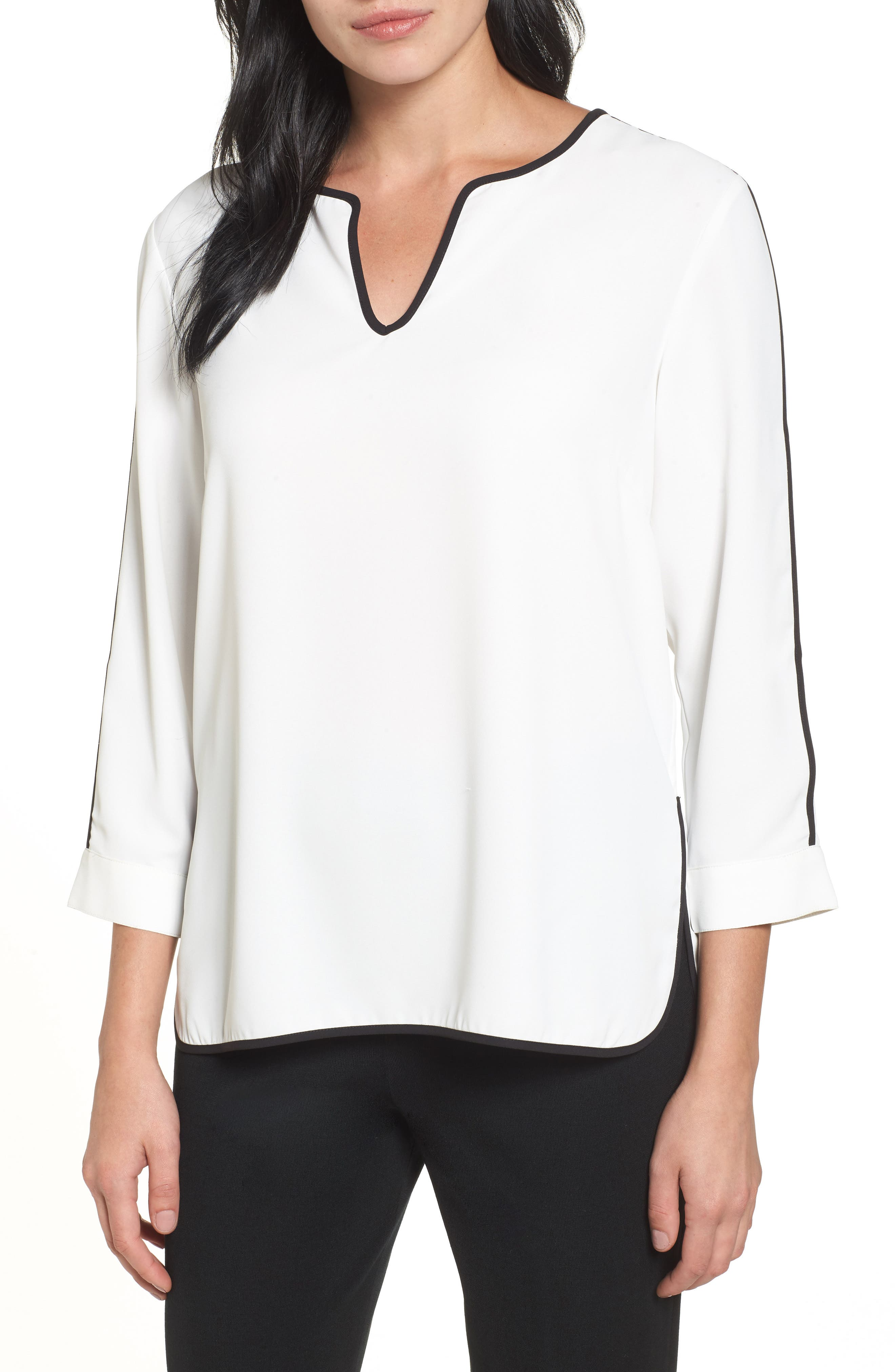 Ming Wang Split Sleeve Blouse