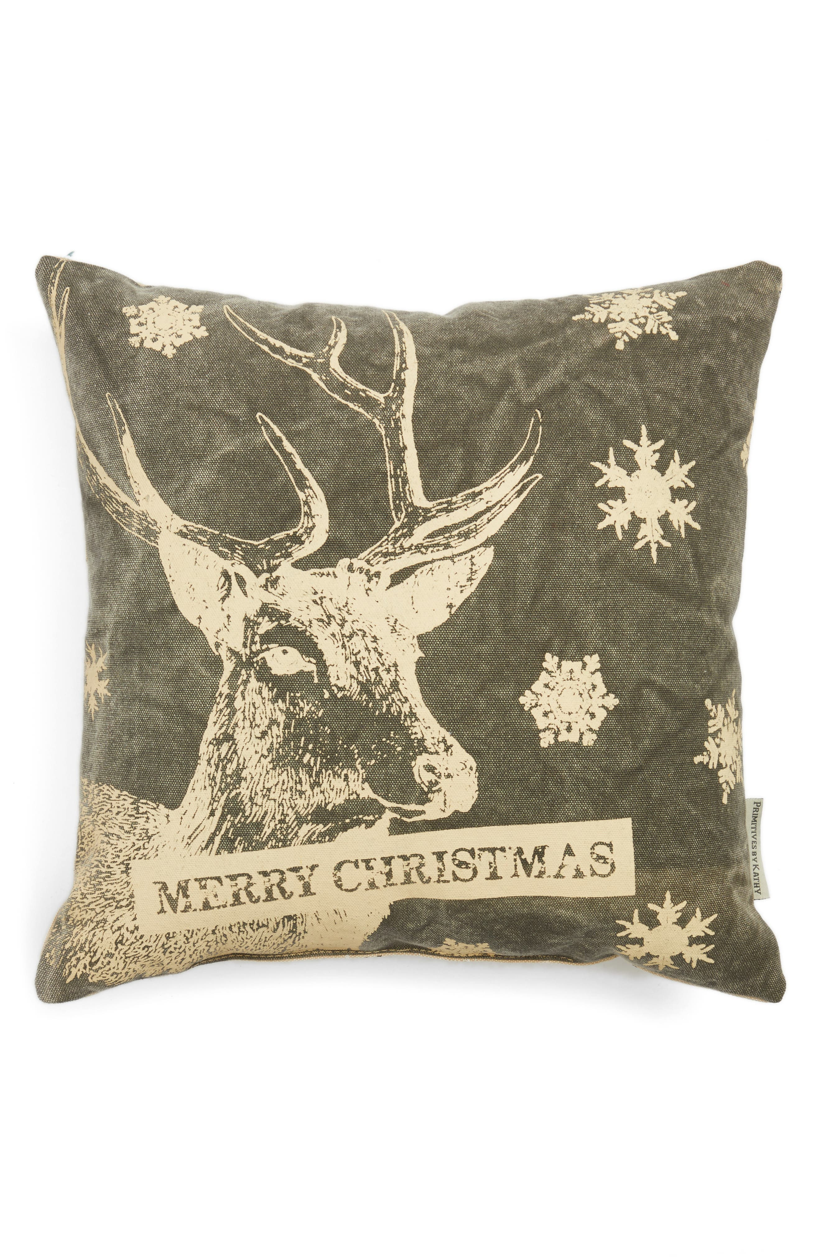 Main Image - Primitives by Kathy Merry Christmas Pillow