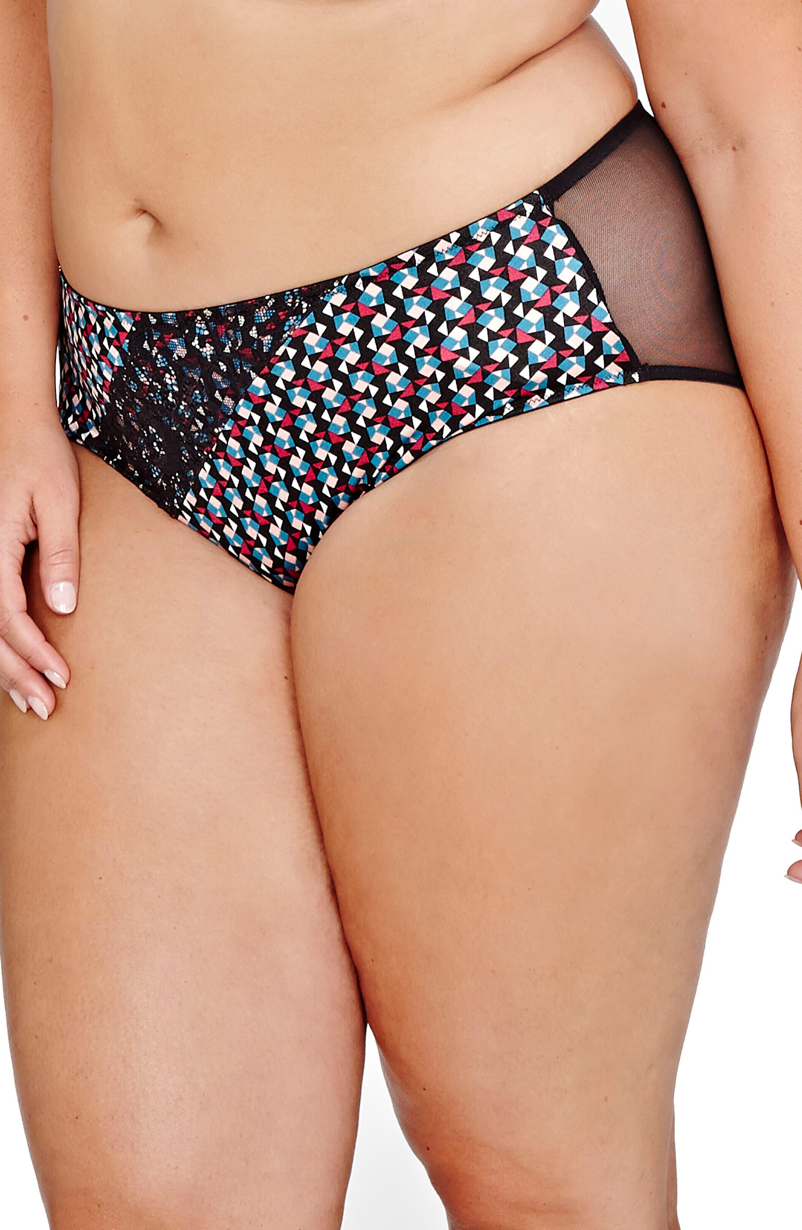 Alternate Image 3  - Déesse Lingerie Teddy Girl High Cut Panties (Plus Size)