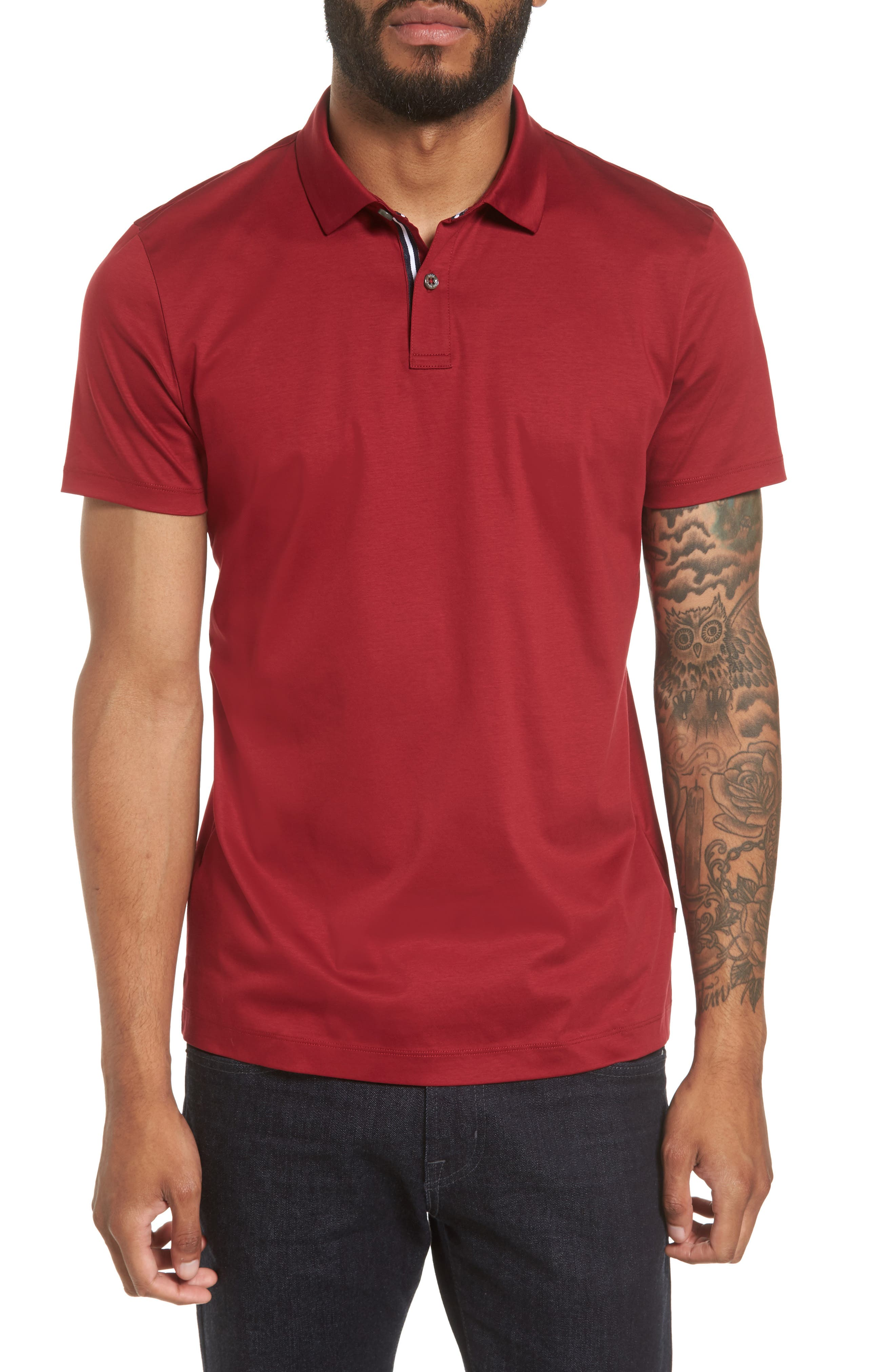 Alternate Image 1 Selected - BOSS Press 21 Solid Regular Fit Polo