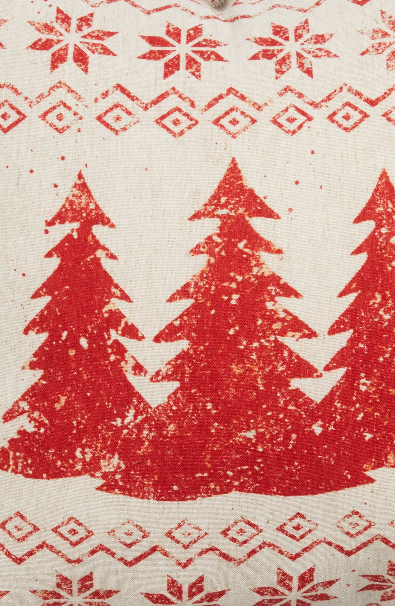 Merry Christmas Pillow,                             Alternate thumbnail 3, color,                             Ivory
