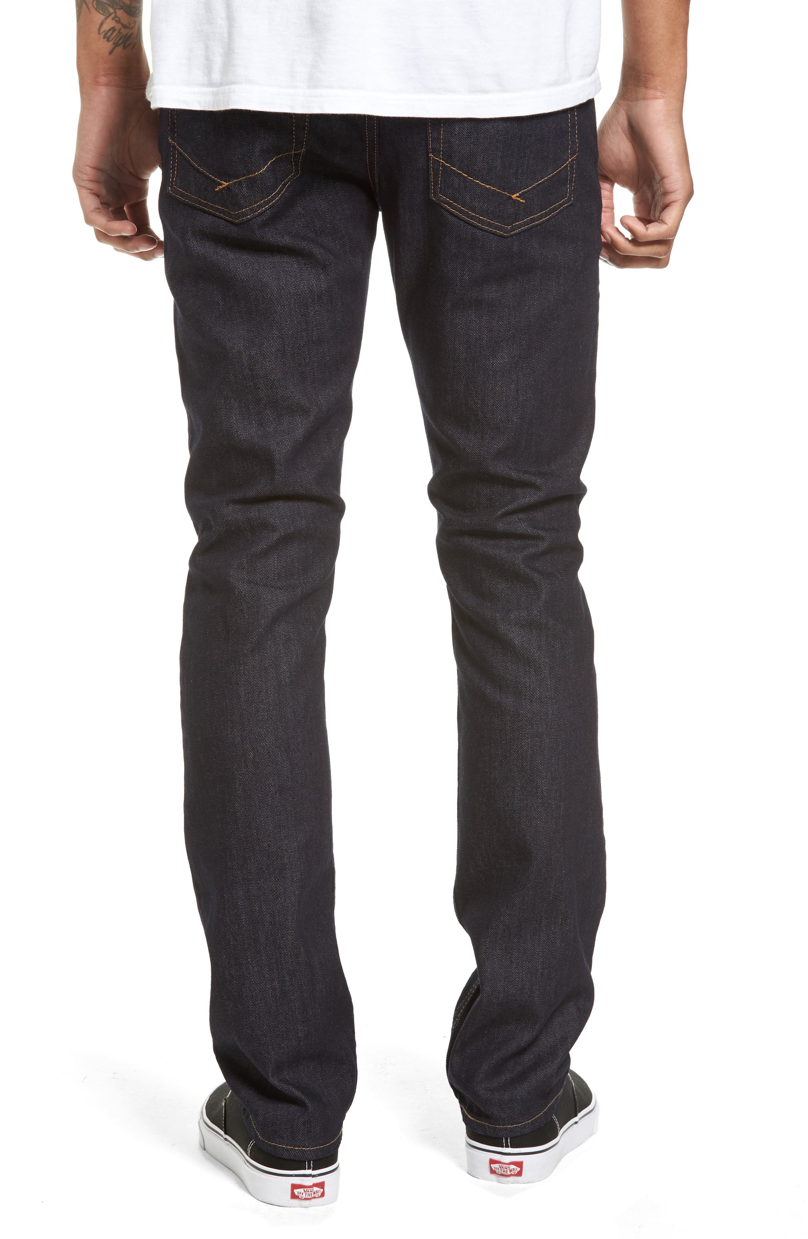 V76 Skinny Jeans,                             Alternate thumbnail 2, color,                             Indigo