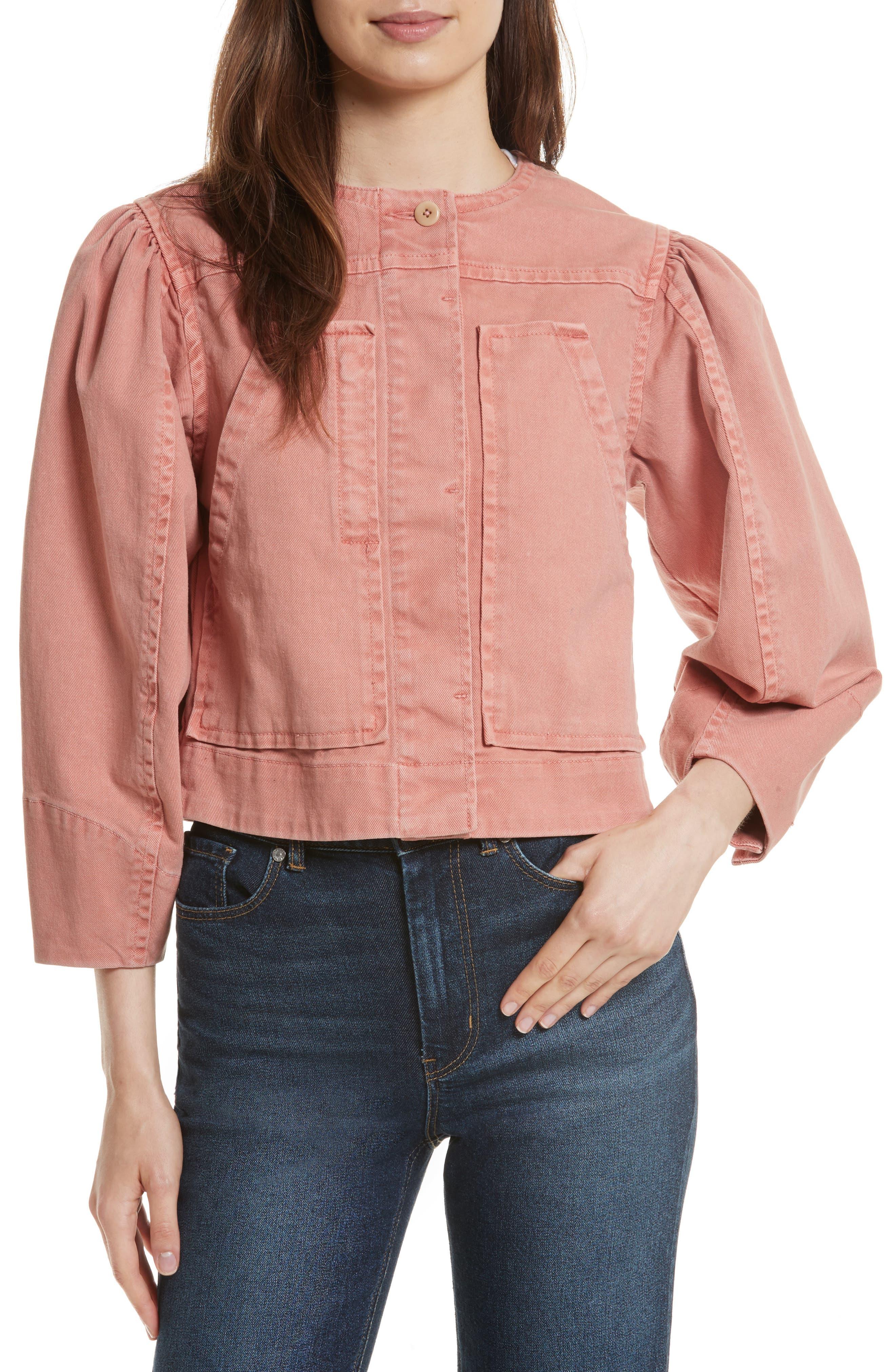 Main Image - La Vie Rebecca Taylor Garment Dyed Twill Jacket