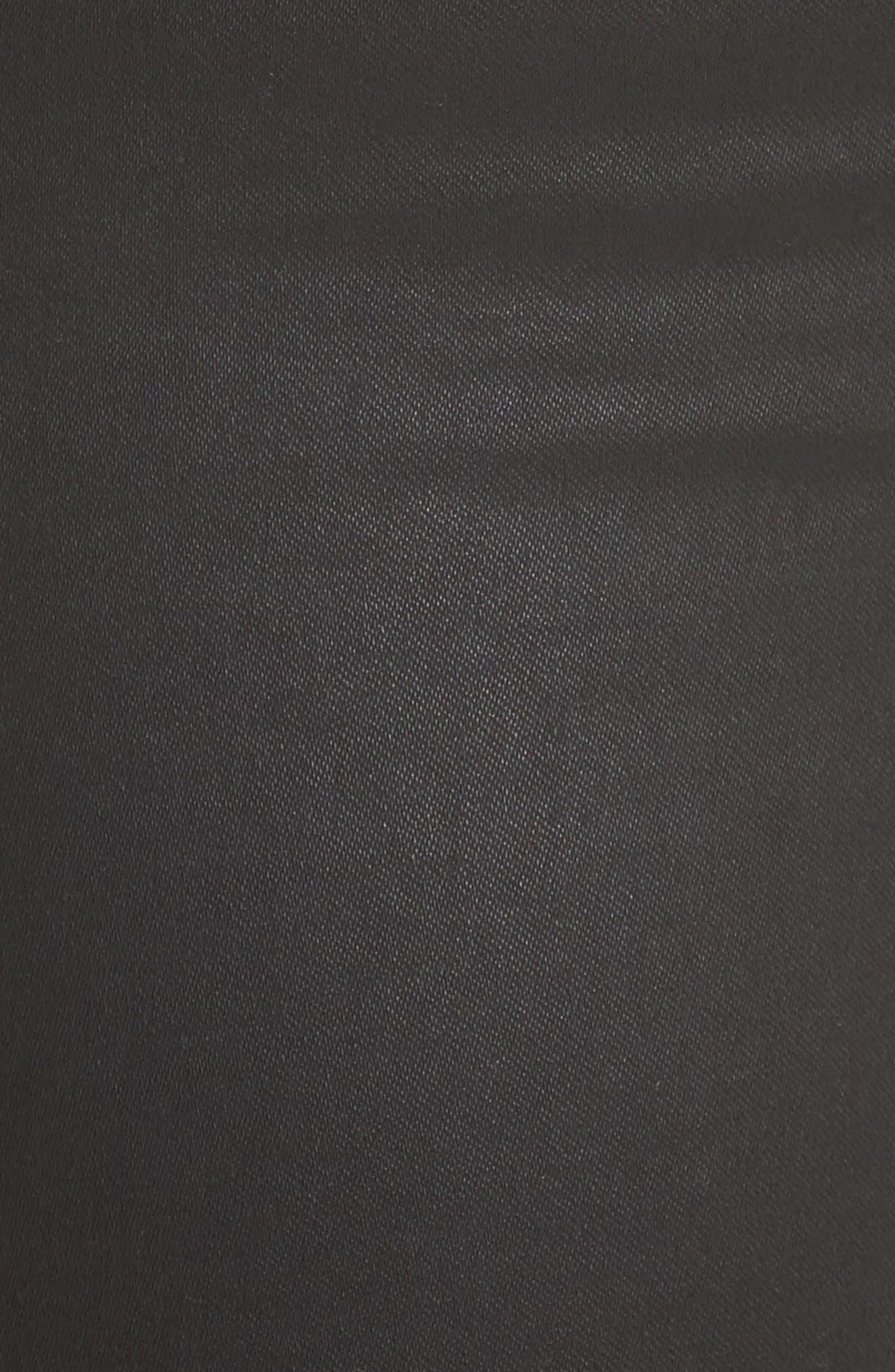 Park B Coated Skinny Jeans,                             Alternate thumbnail 5, color,                             Caviar