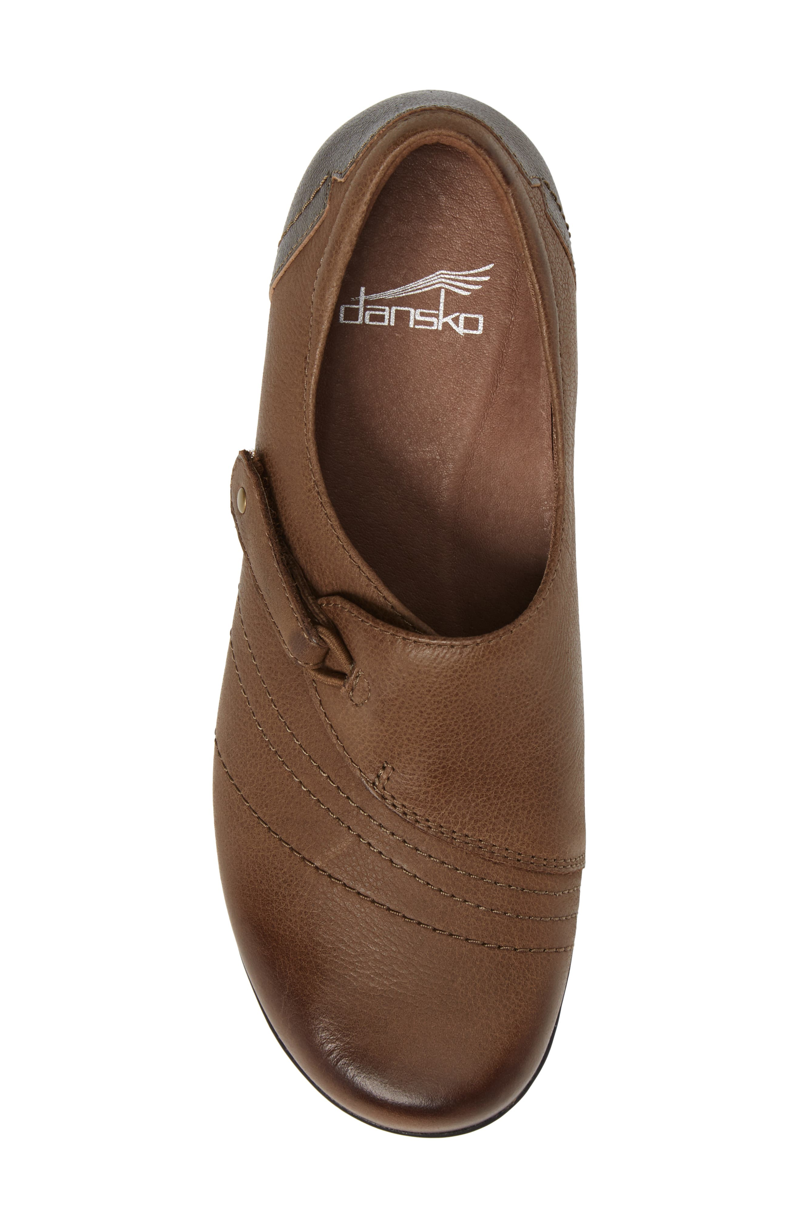 Franny Loafer,                             Alternate thumbnail 5, color,                             Taupe Burnished Nappa Leather