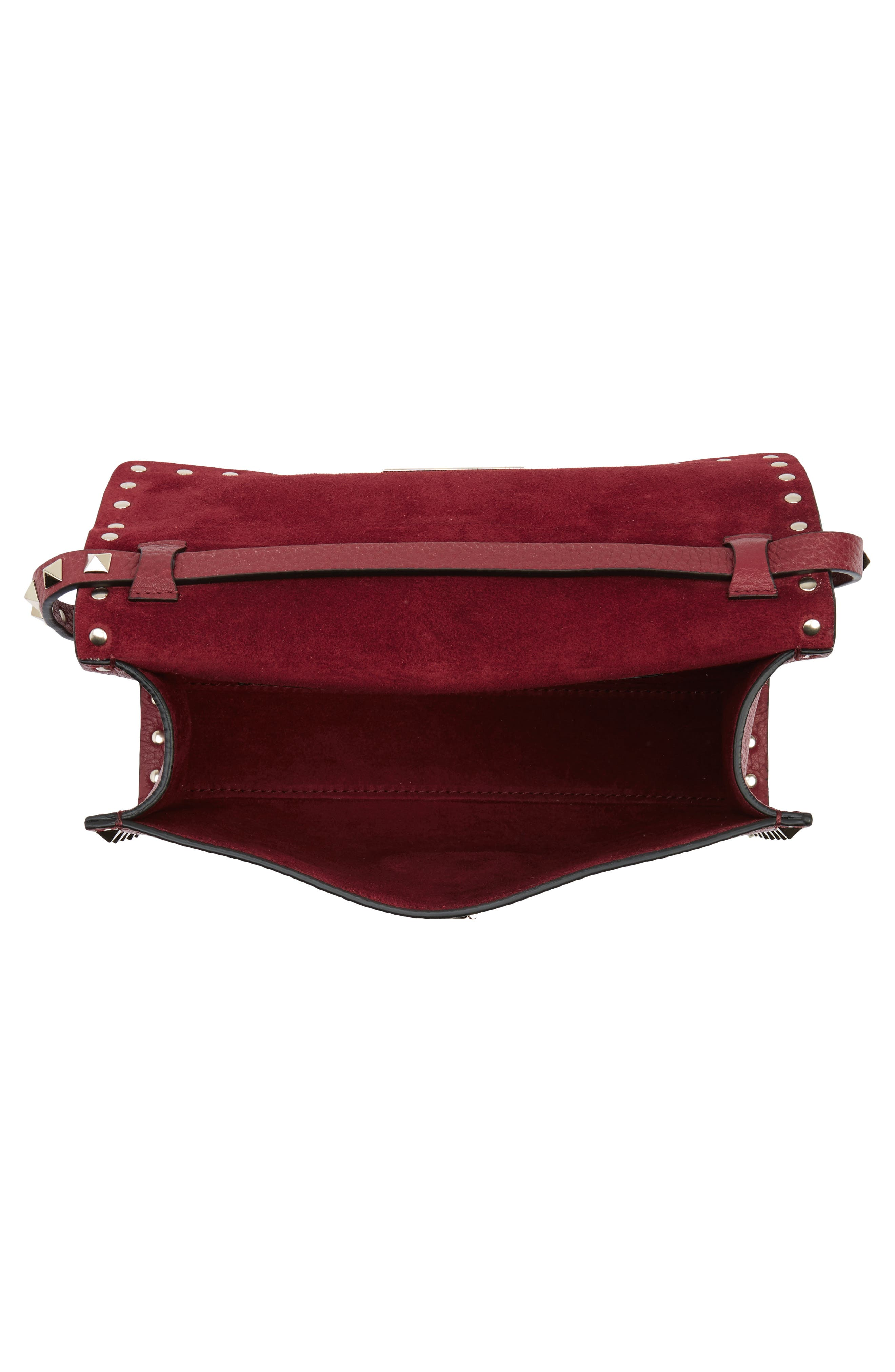 Alternate Image 4  - VALENTINO GARAVANI Medium Rockstud Leather Messenger Bag