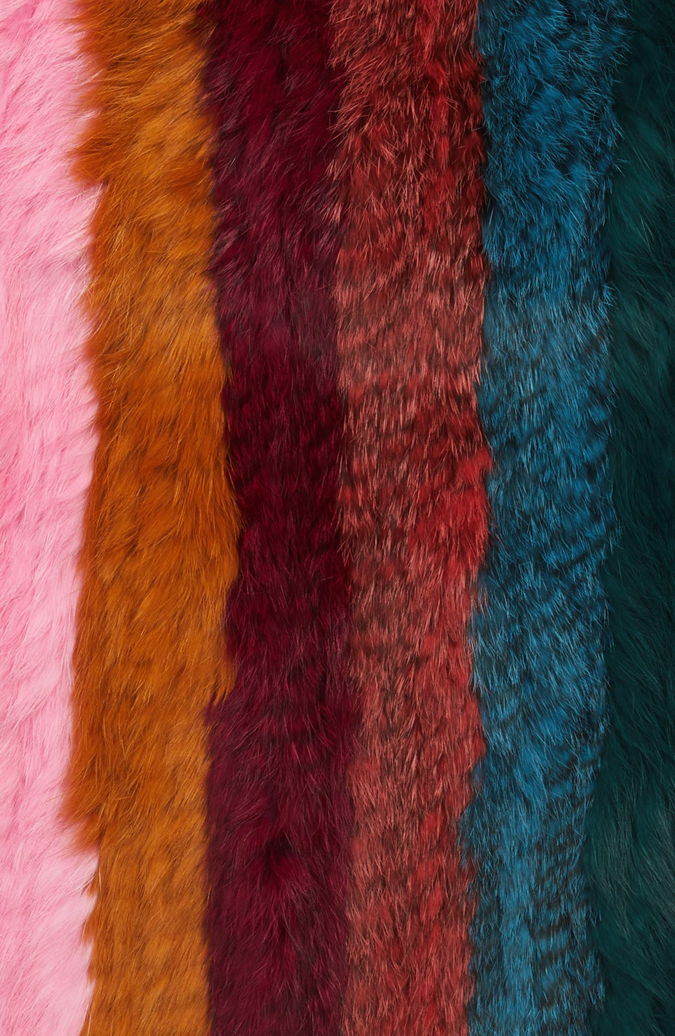 Alternate Image 4  - Jocelyn Striped Genuine Rabbit Fur Infinity Scarf