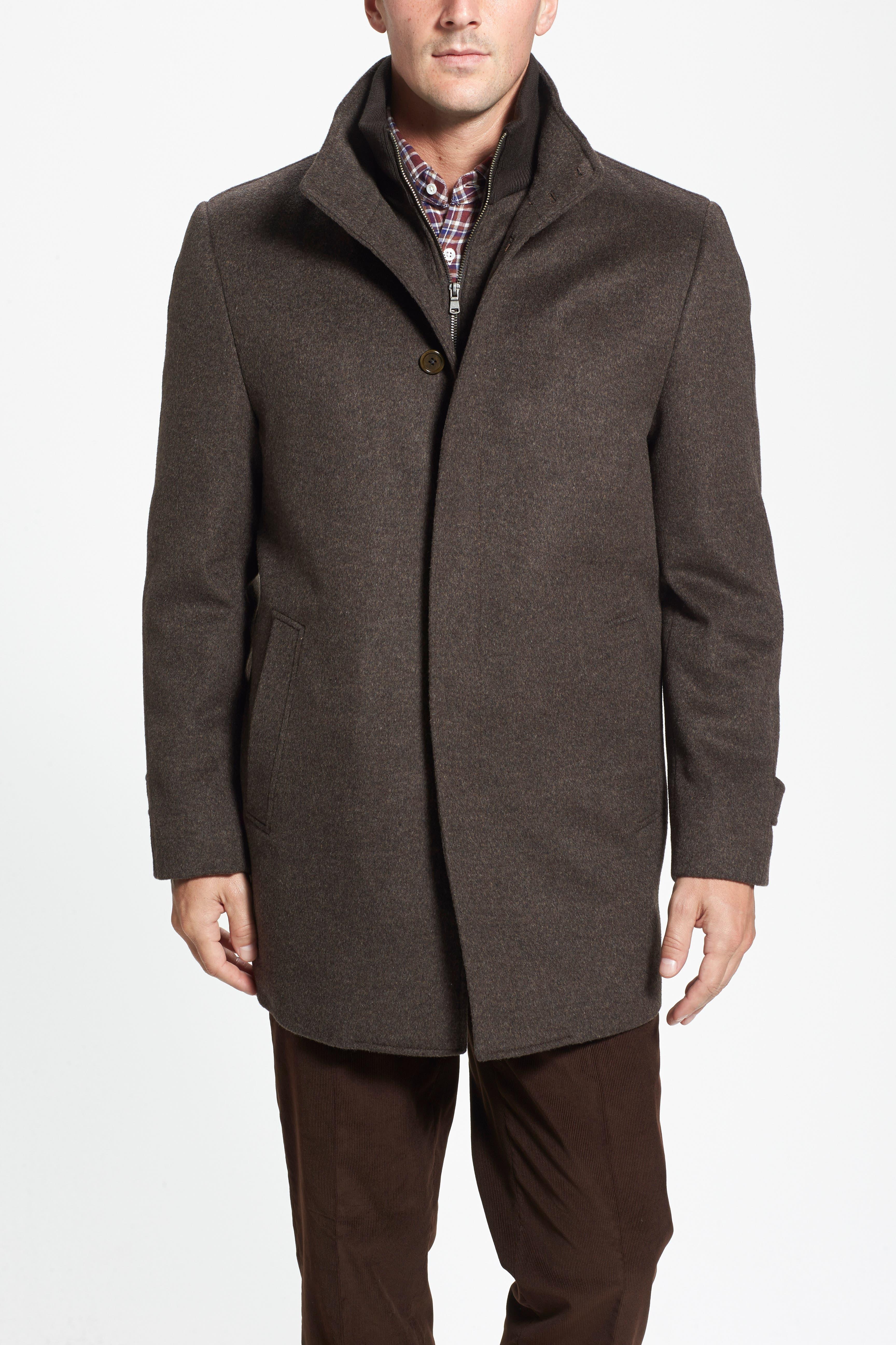Wool Jacket,                         Main,                         color, Brown Melange