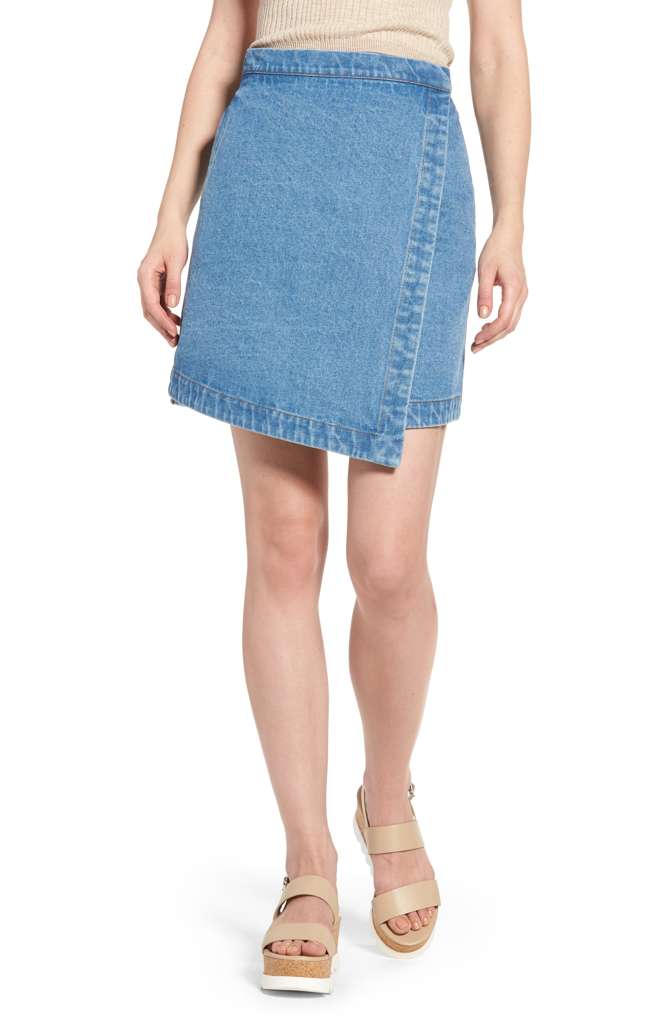 The Fifth Label Back Streets Asymmetrical Denim Skirt