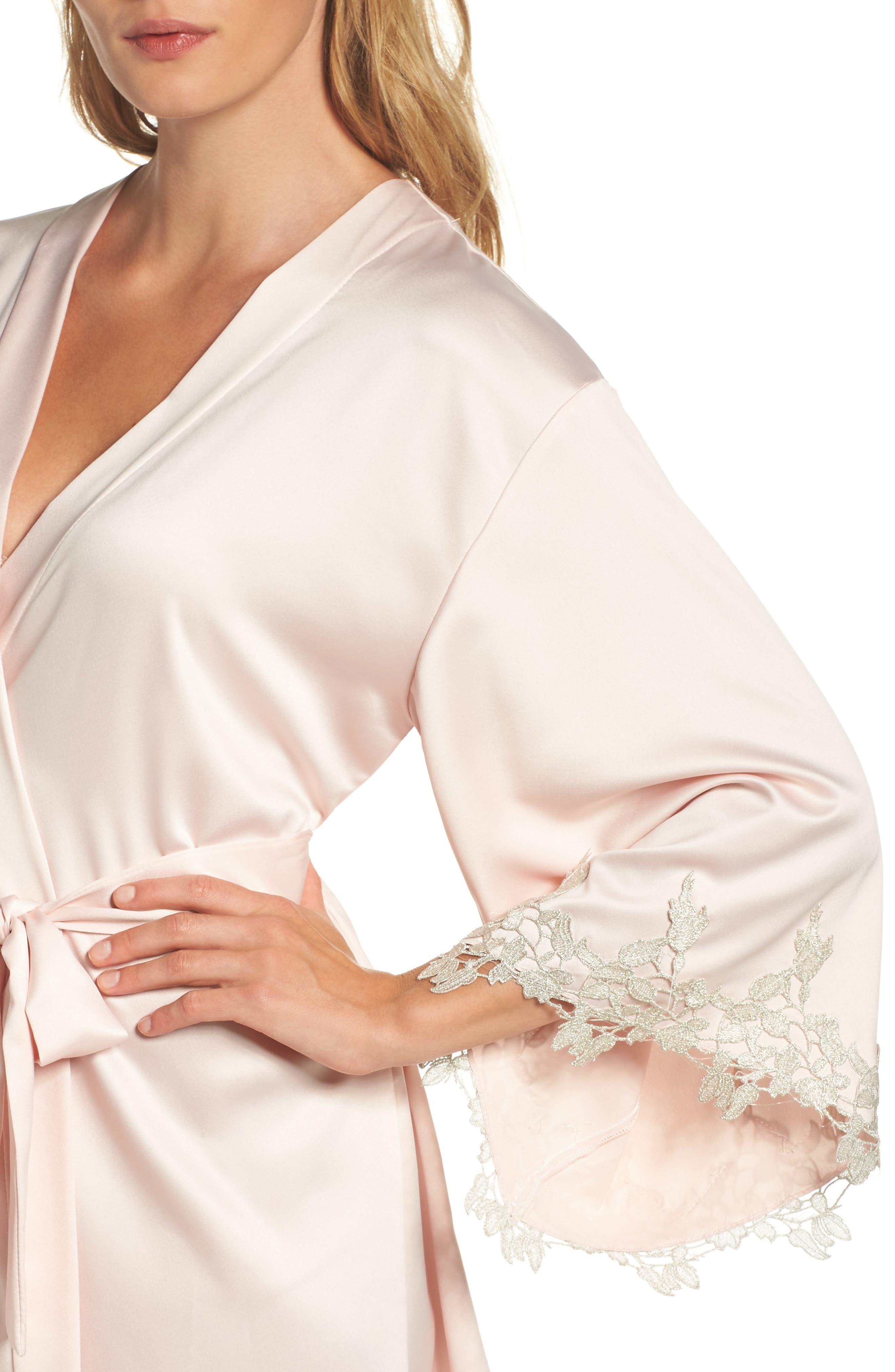 Alternate Image 5  - Flora Nikrooz Alessia Charm Satin Robe