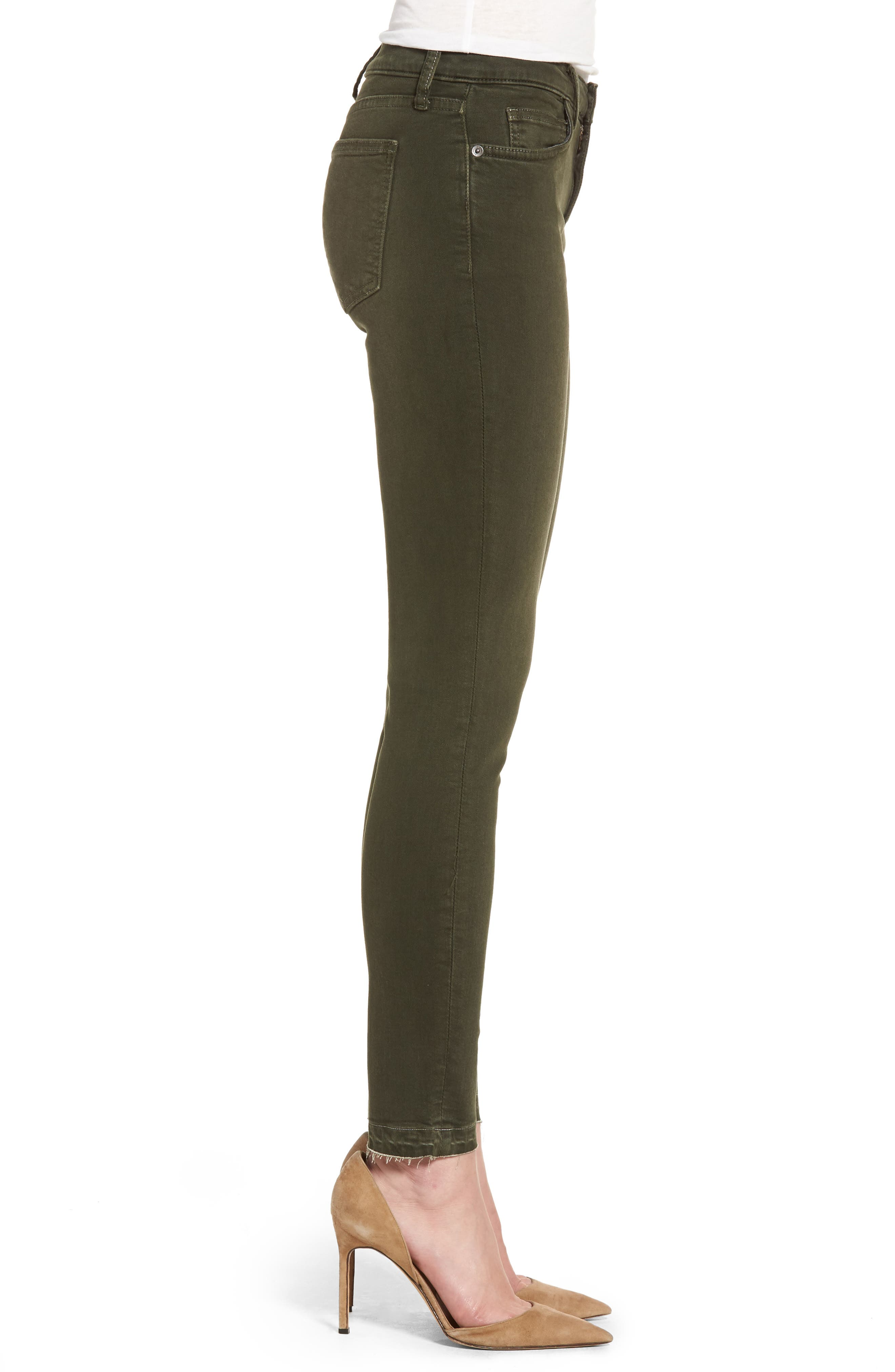 The Stiletto Ankle Skinny Jeans,                             Alternate thumbnail 3, color,                             Forest Night