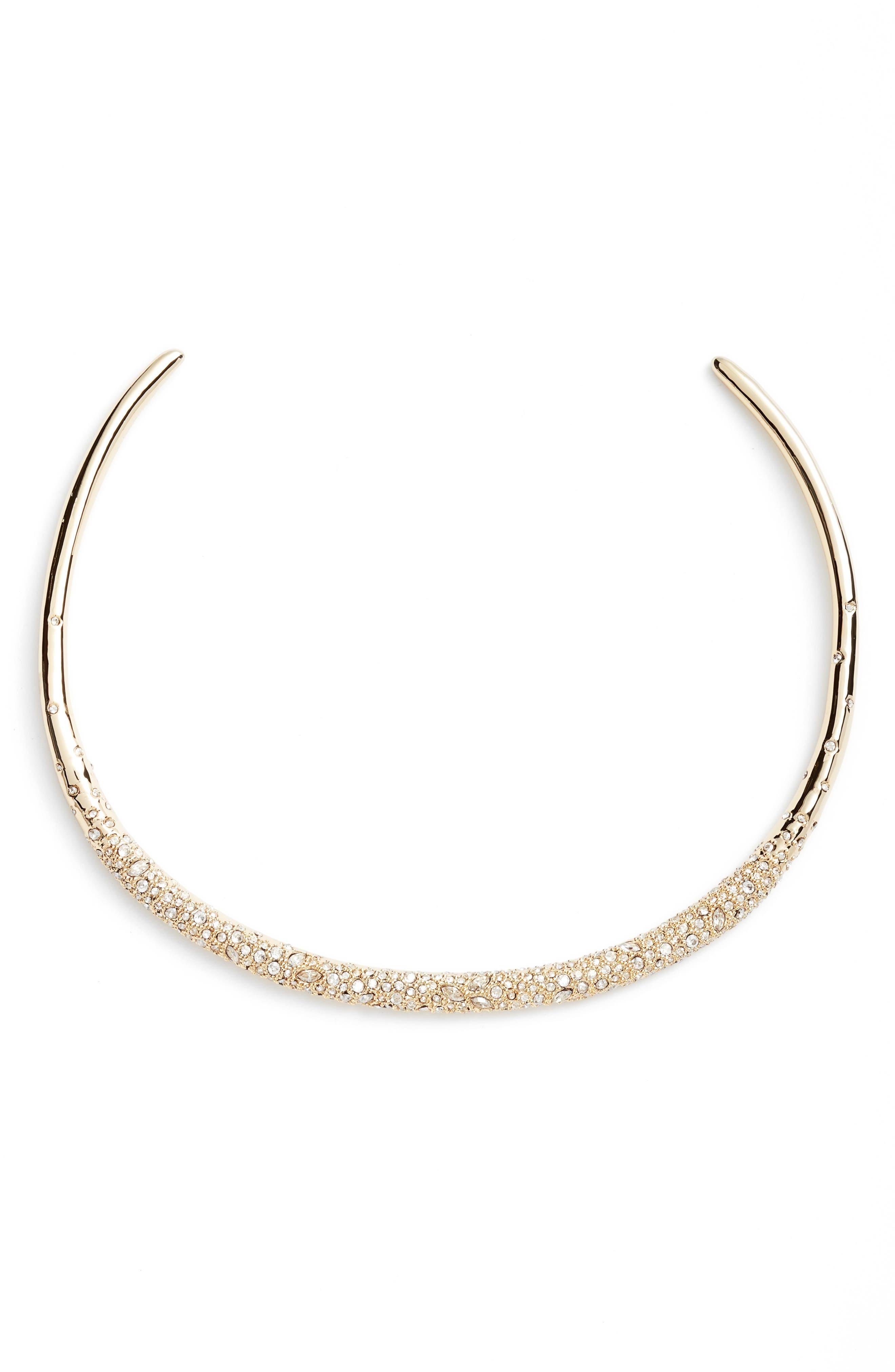 Alexis Bittar Thin Encrusted Collar Necklace
