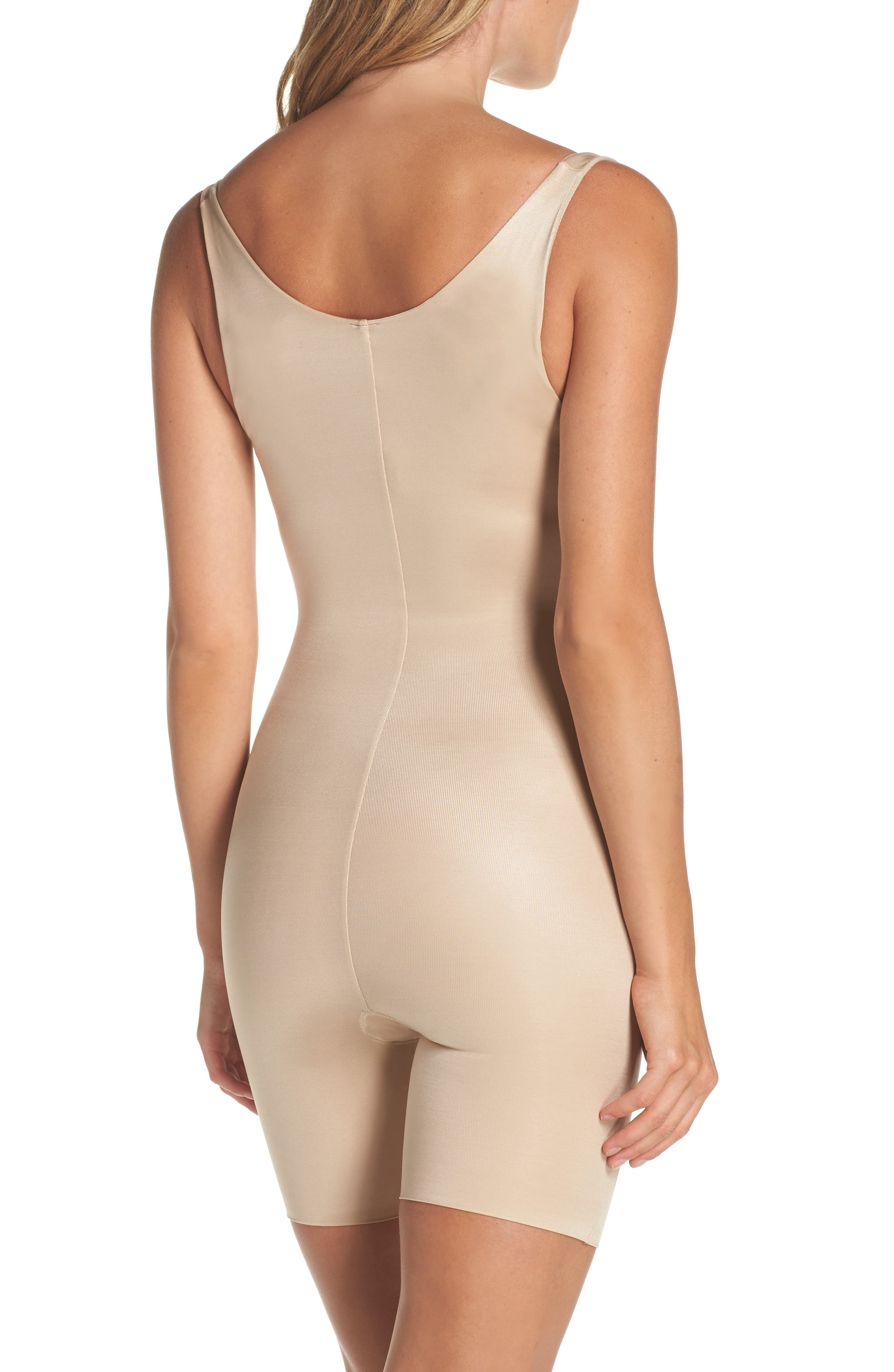 Alternate Image 2  - SPANX® Power Conceal-Her Open Bust Bodysuit