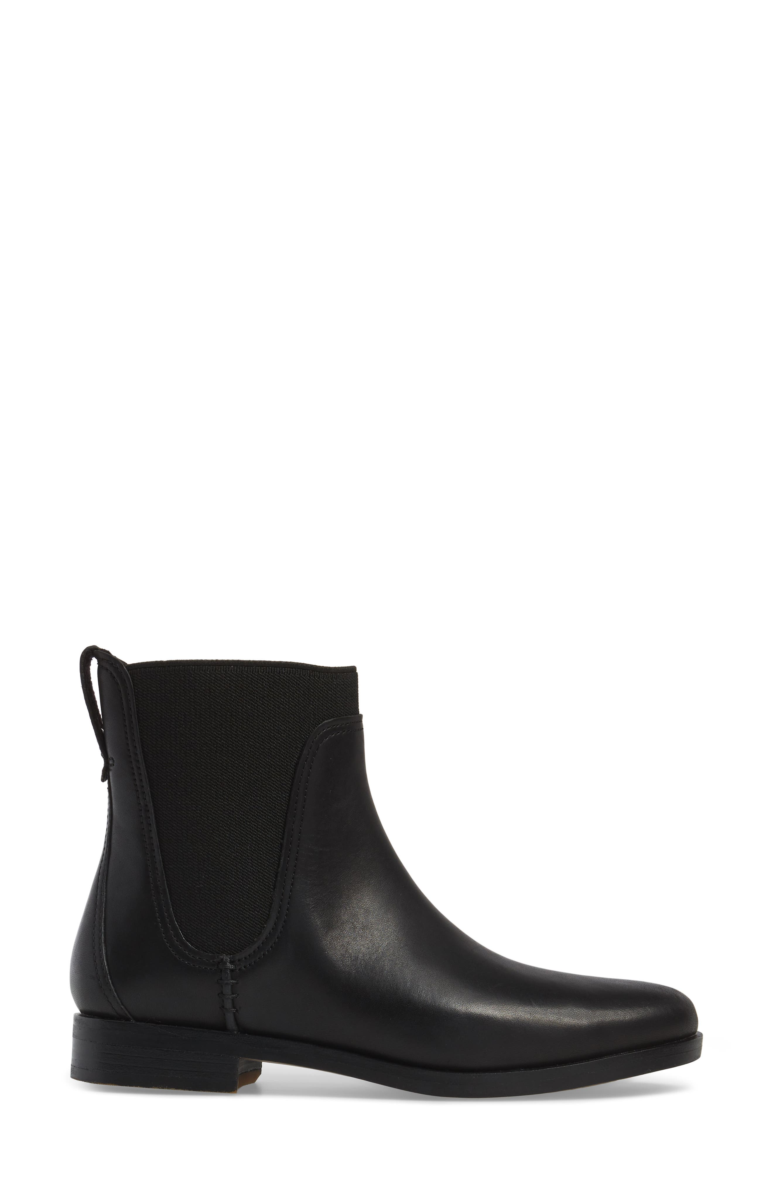 Somers Falls Water Resistant Chelsea Boot,                             Alternate thumbnail 3, color,                             Jet Black Swank Leather