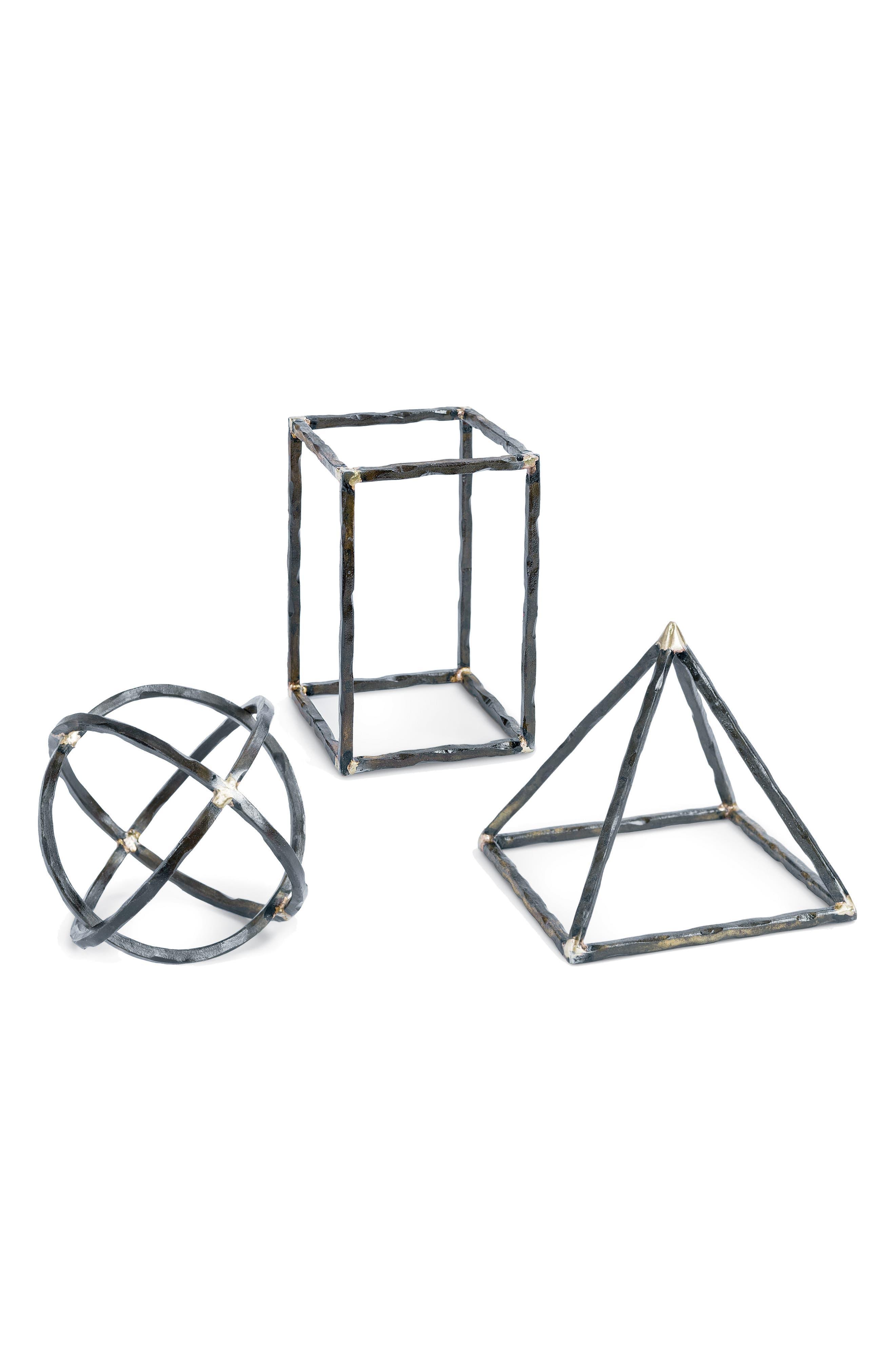 Set of 3 Geometric Shapes,                         Main,                         color, Black