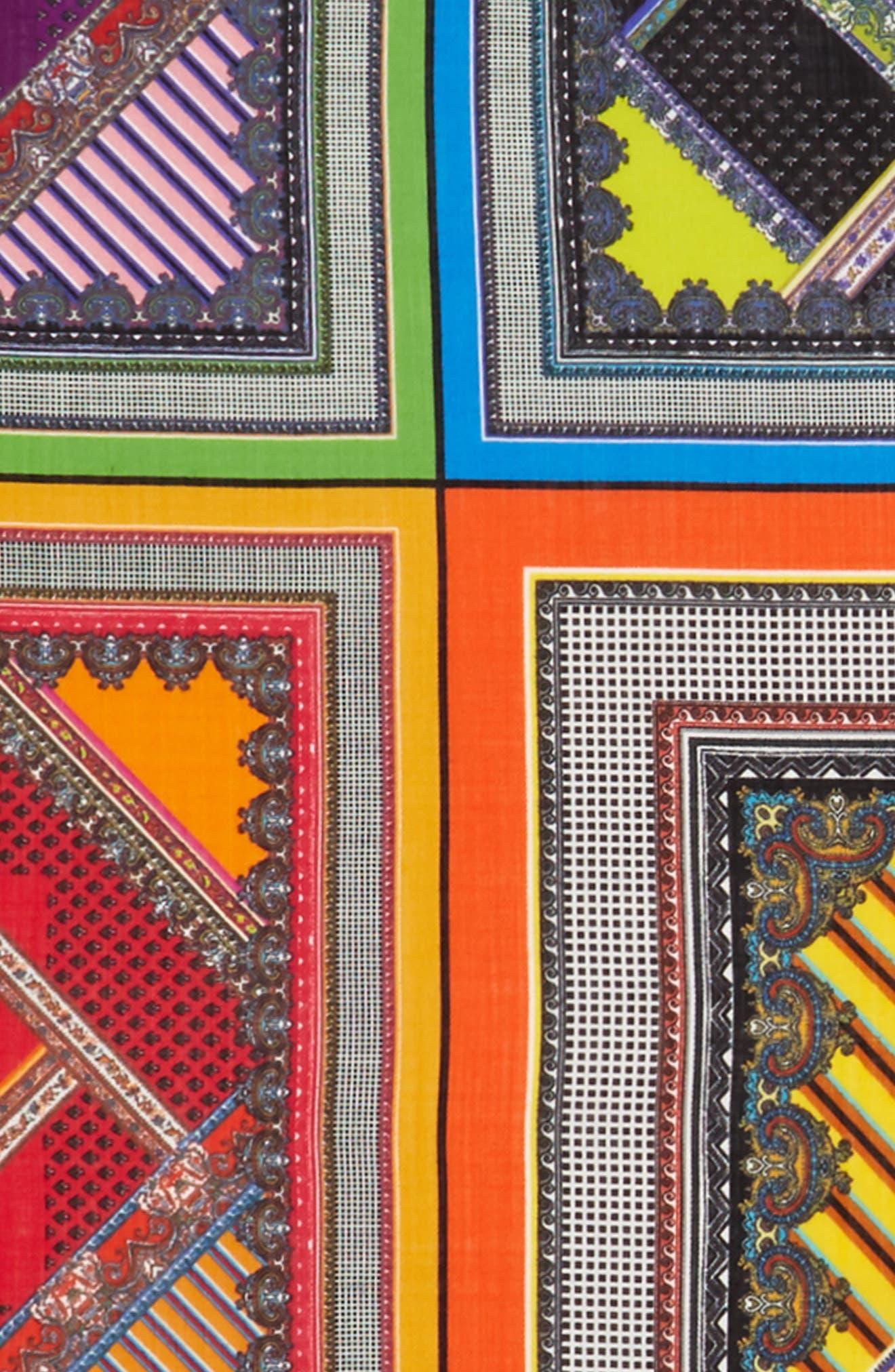 Wool & Silk Scarf,                             Alternate thumbnail 3, color,                             Purple
