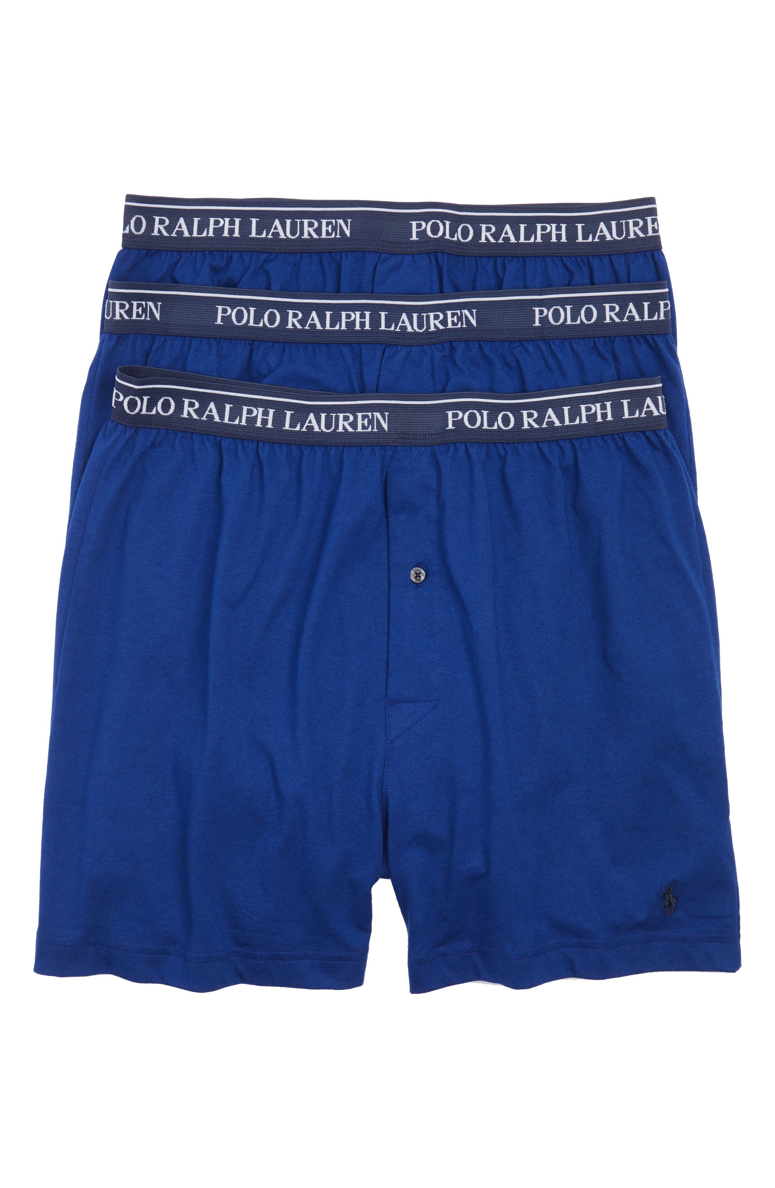 3-Pack Cotton Boxers,                         Main,                         color, Club Royal Blue