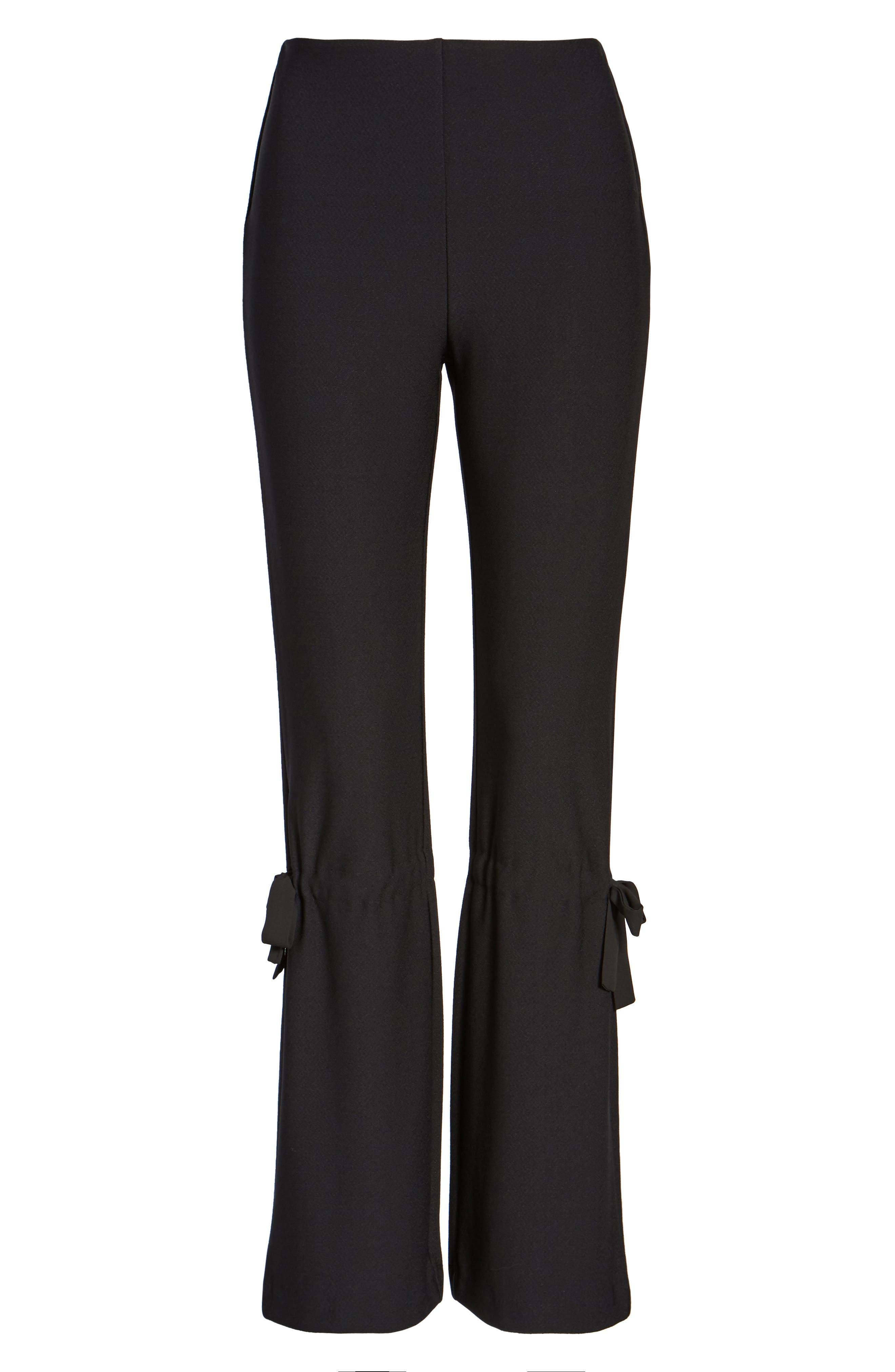 Arcadia High Waist Pants,                             Alternate thumbnail 4, color,                             Black