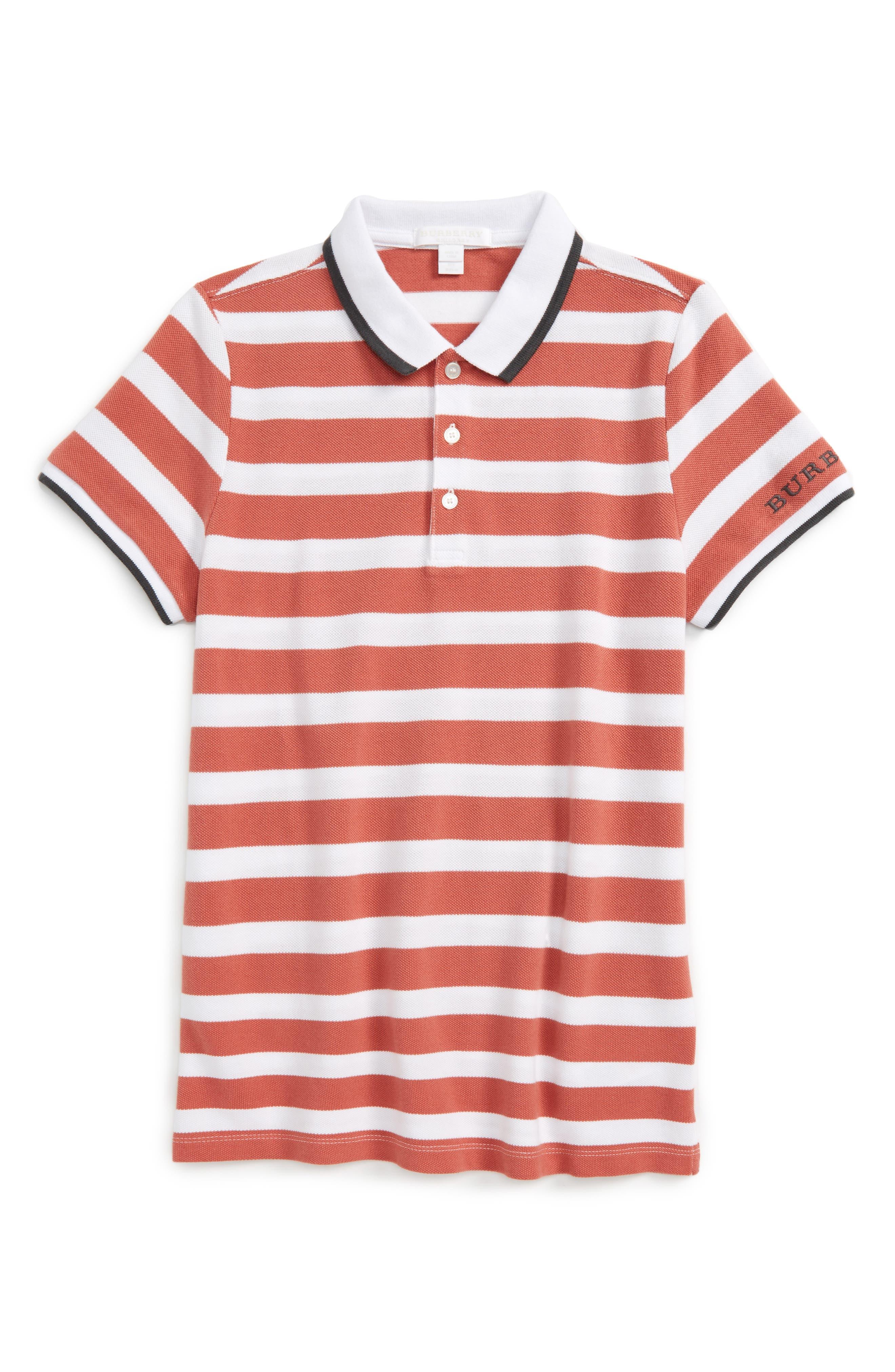 Alternate Image 1 Selected - Burberry Stripe Polo (Little Boys & Big Boys)