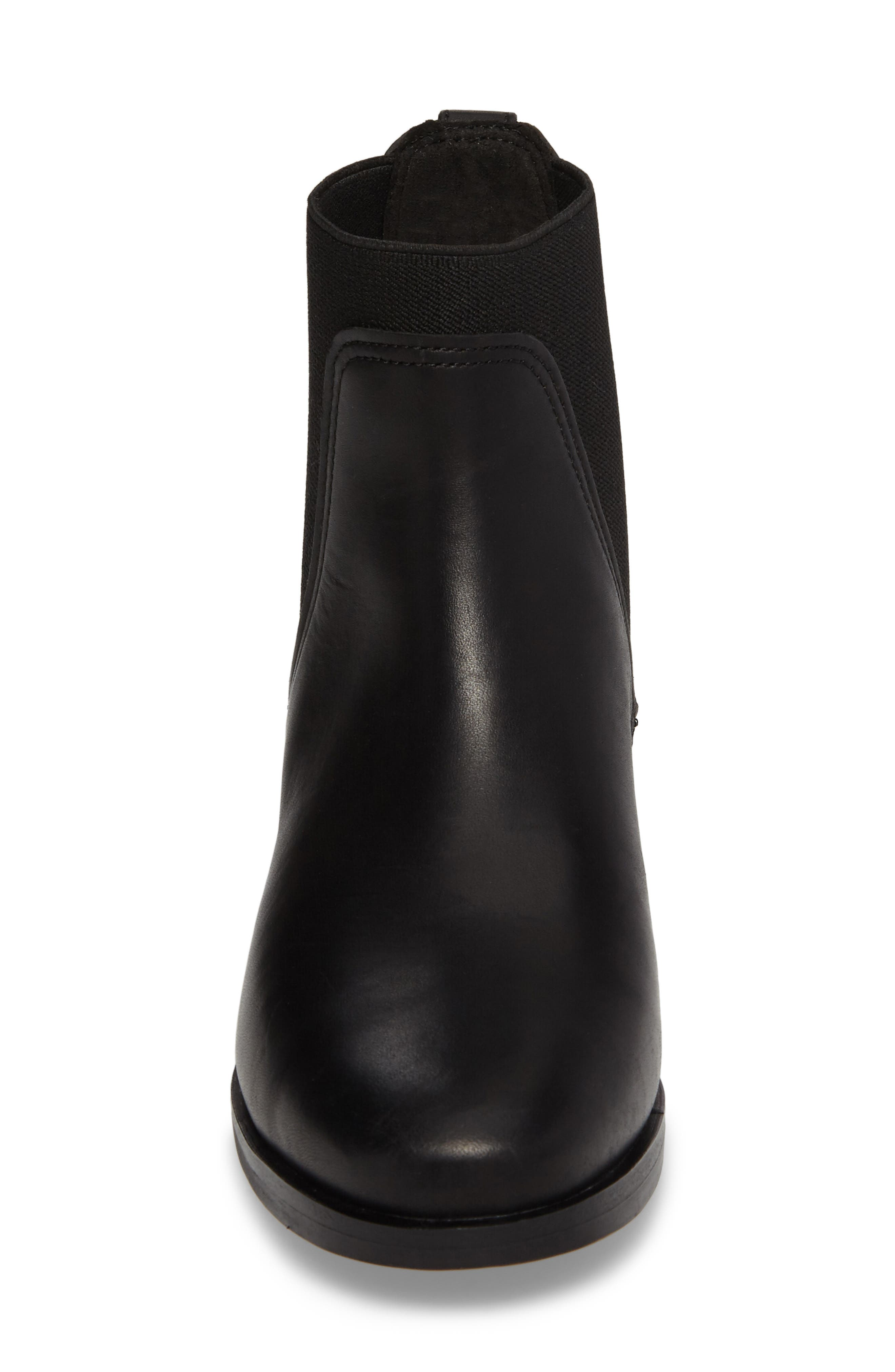 Somers Falls Water Resistant Chelsea Boot,                             Alternate thumbnail 5, color,                             Jet Black Swank Leather