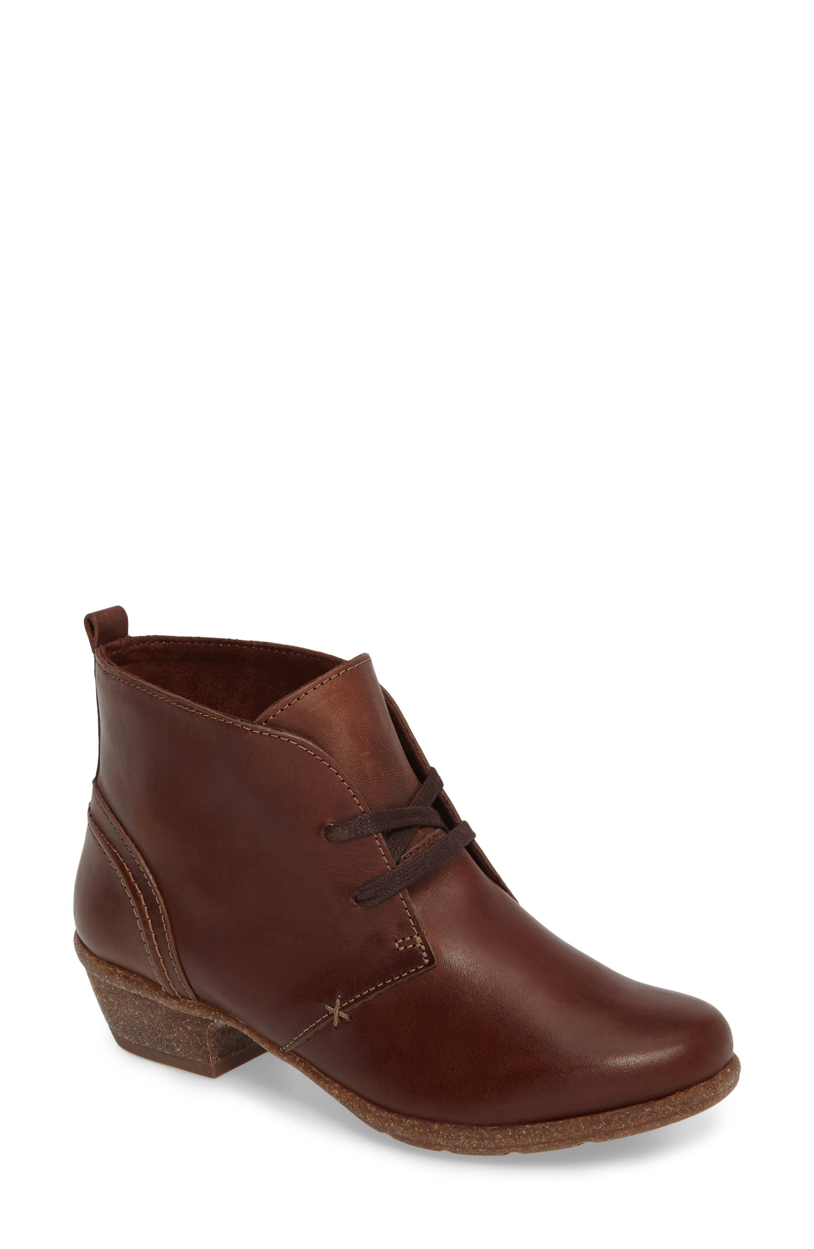 Wilrose Sage Bootie,                             Main thumbnail 1, color,                             Brown Nubuck Leather