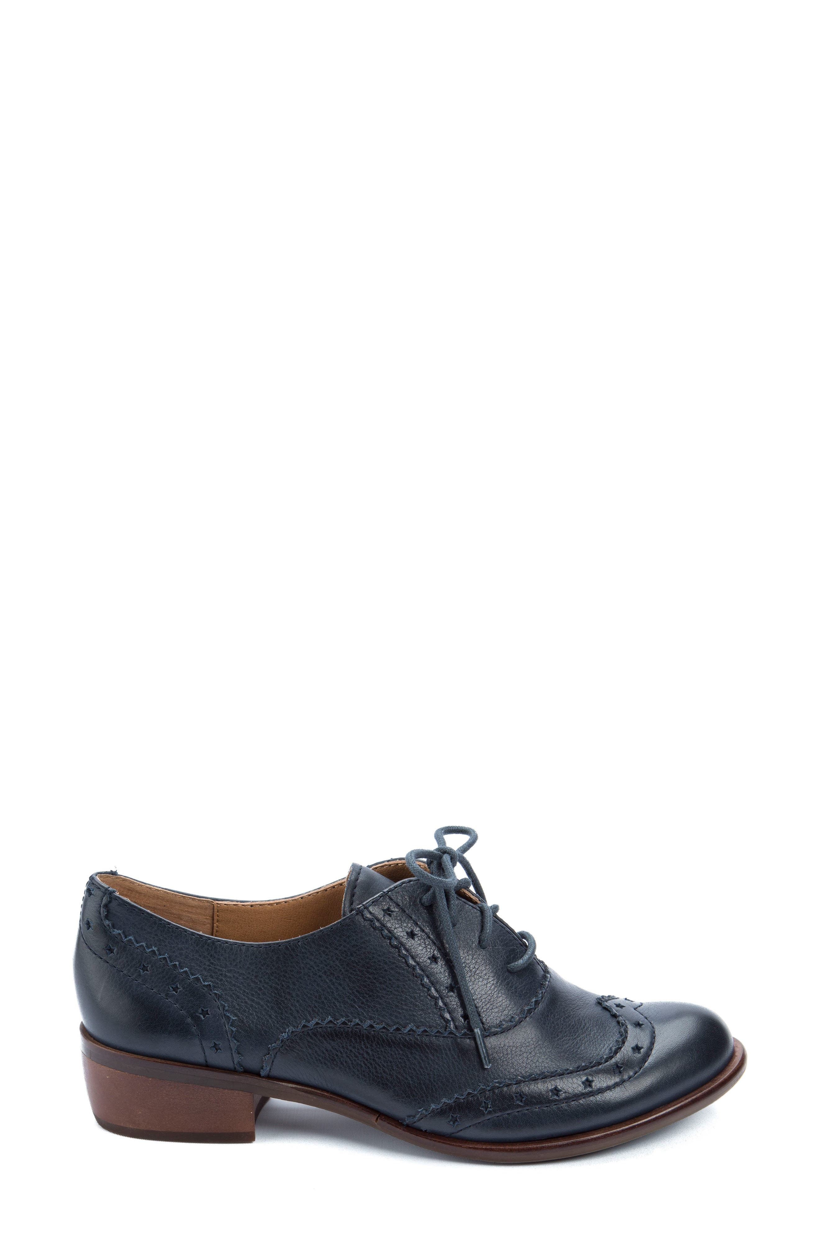Heart Lace-Up Loafer,                             Alternate thumbnail 3, color,                             Navy