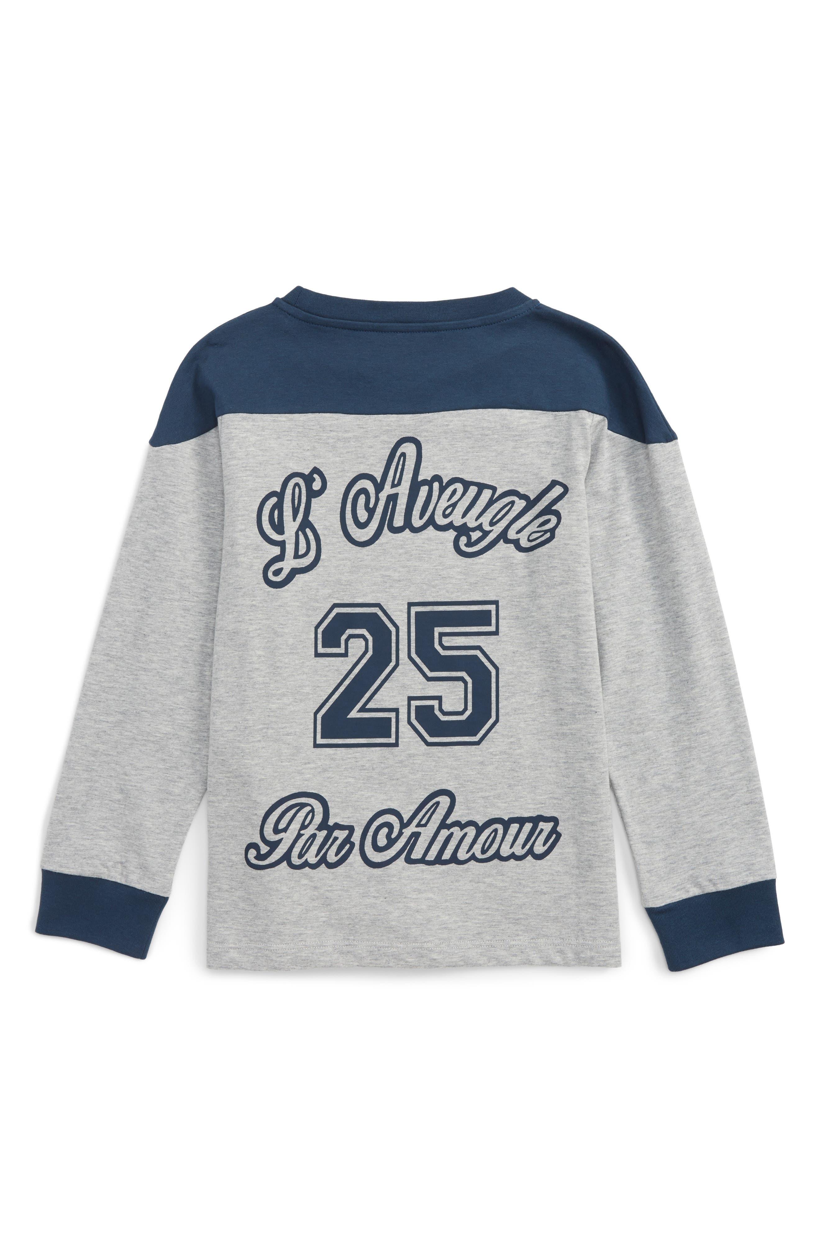 L'Aveugle Par Amour Graphic Sweatshirt,                             Alternate thumbnail 2, color,                             Grey Multi