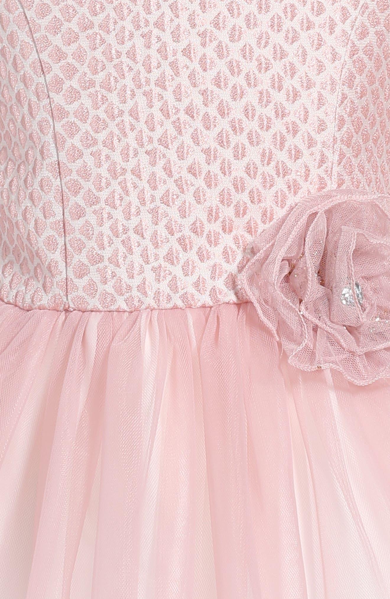 Alternate Image 3  - Pippa & Julie Brocade & Tulle Dress (Toddler Girls & Little Girls)