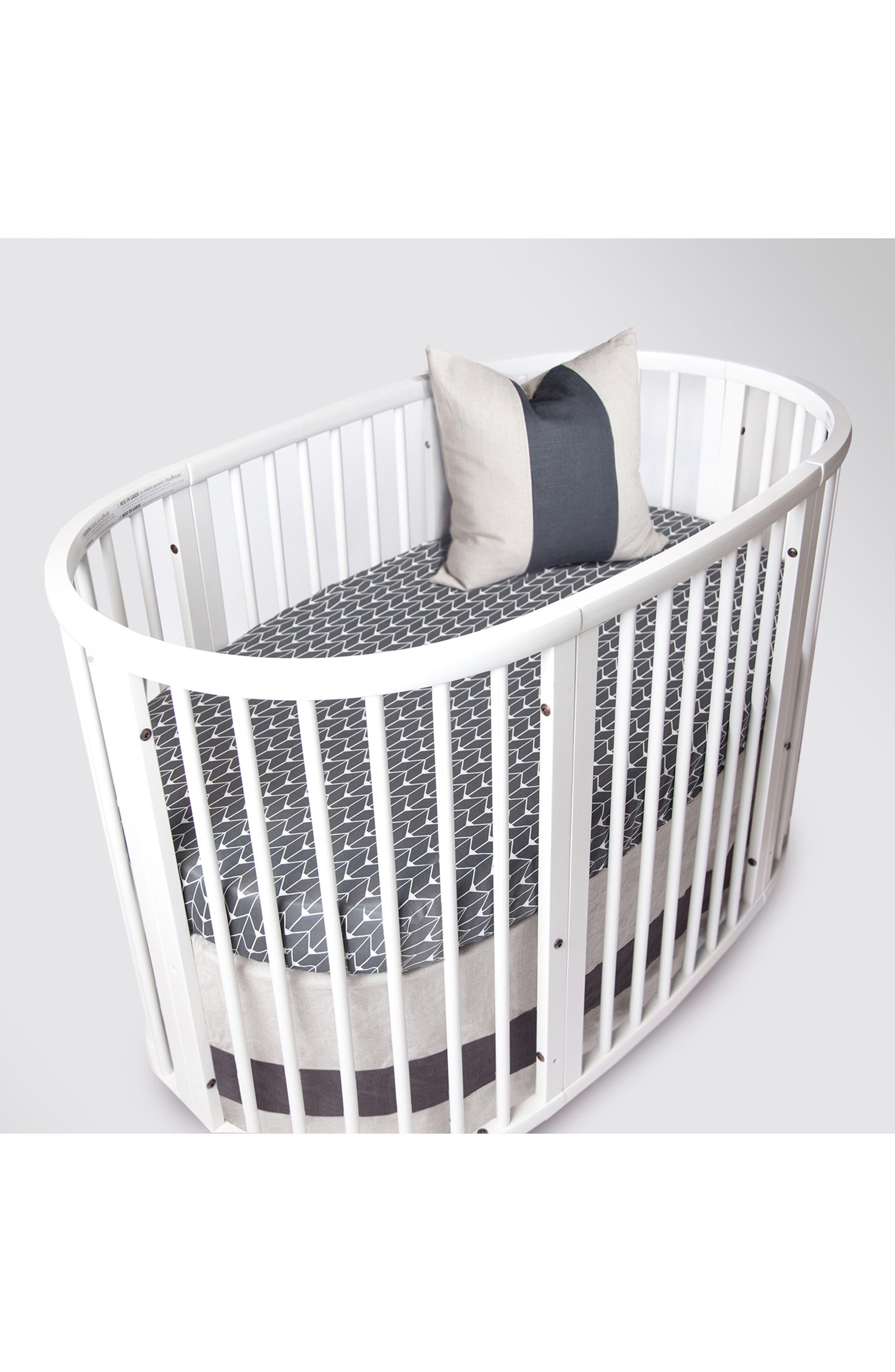 300 Thread Count Crib Sheet for Stokke Sleepi Crib,                             Alternate thumbnail 5, color,                             Charcoal