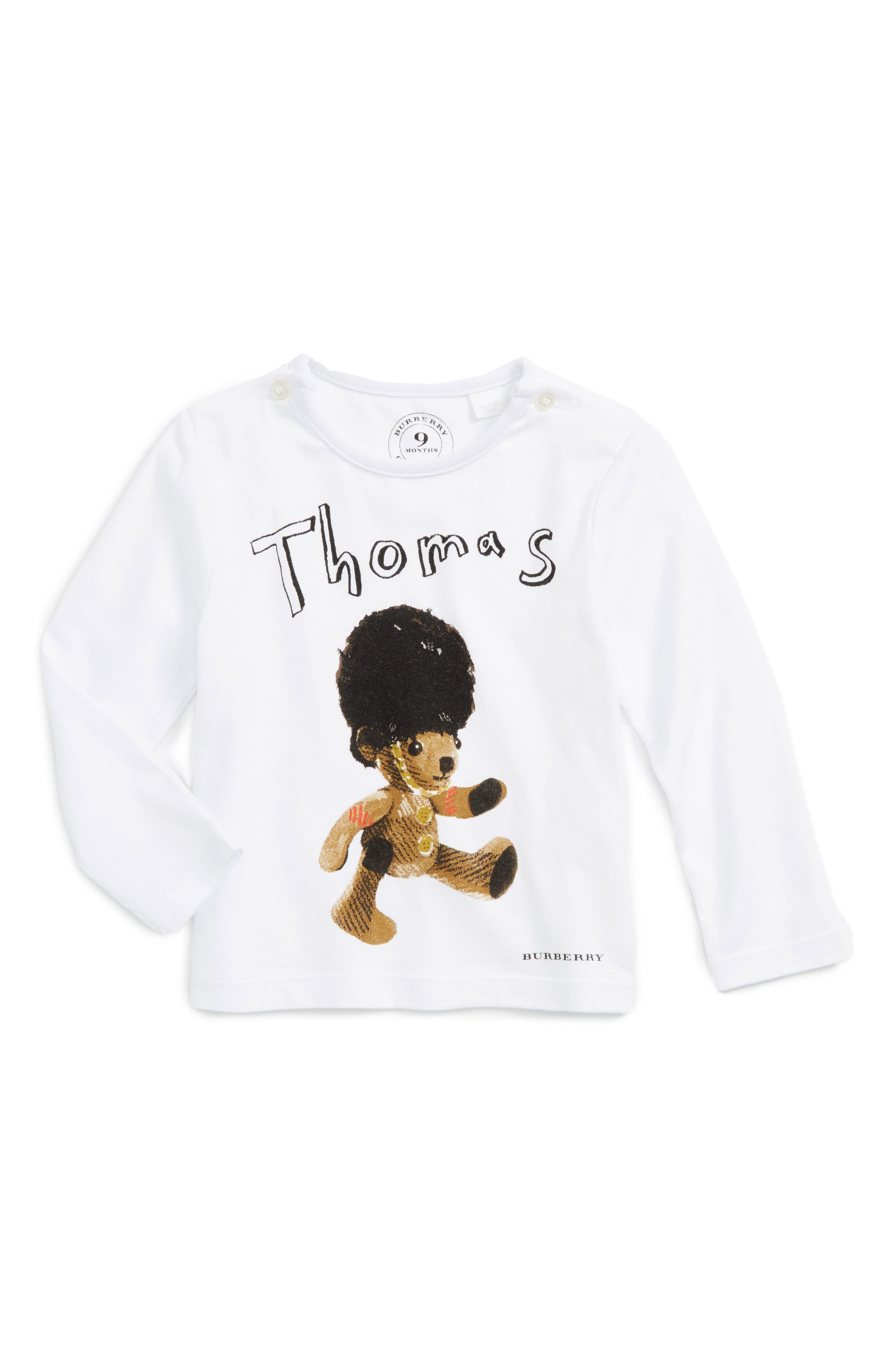 Thomas Bear Graphic T-Shirt,                             Main thumbnail 1, color,                             White