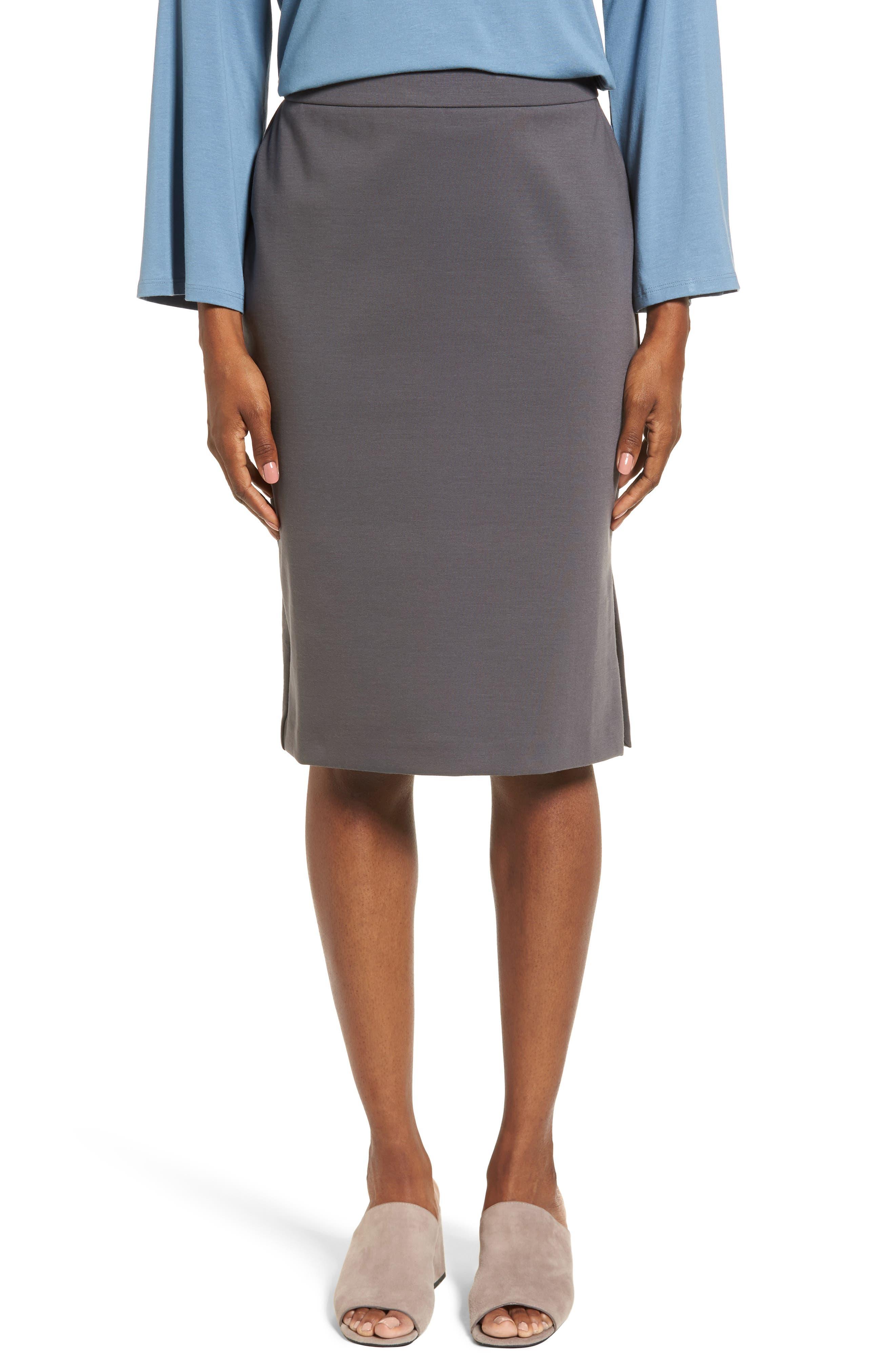 Main Image - Eileen Fisher Tencel® Blend Pencil Skirt