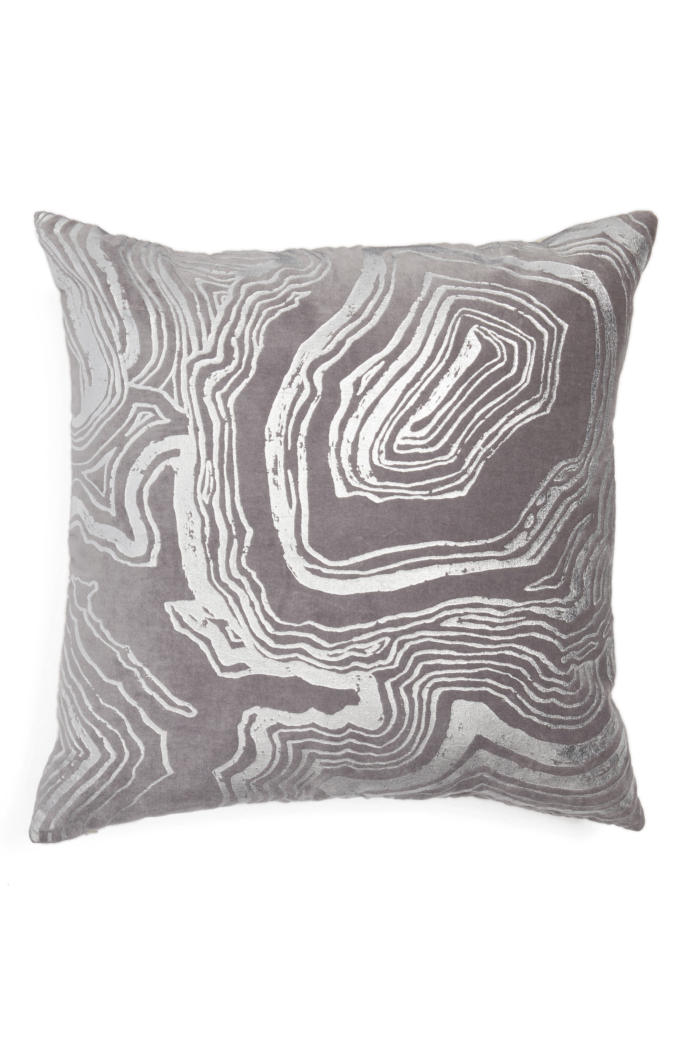 Foil Print Pillow,                         Main,                         color, Grey Frost