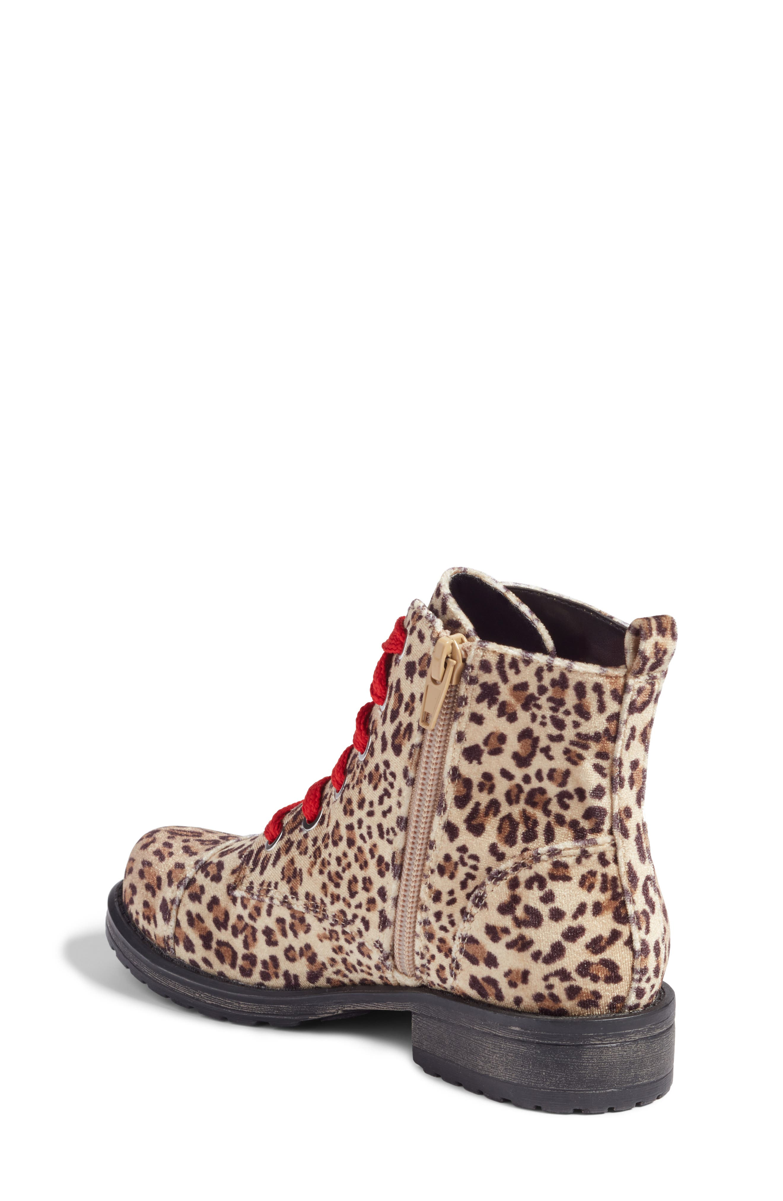 Lilla Combat Boot,                             Alternate thumbnail 2, color,                             Leopard Velvet