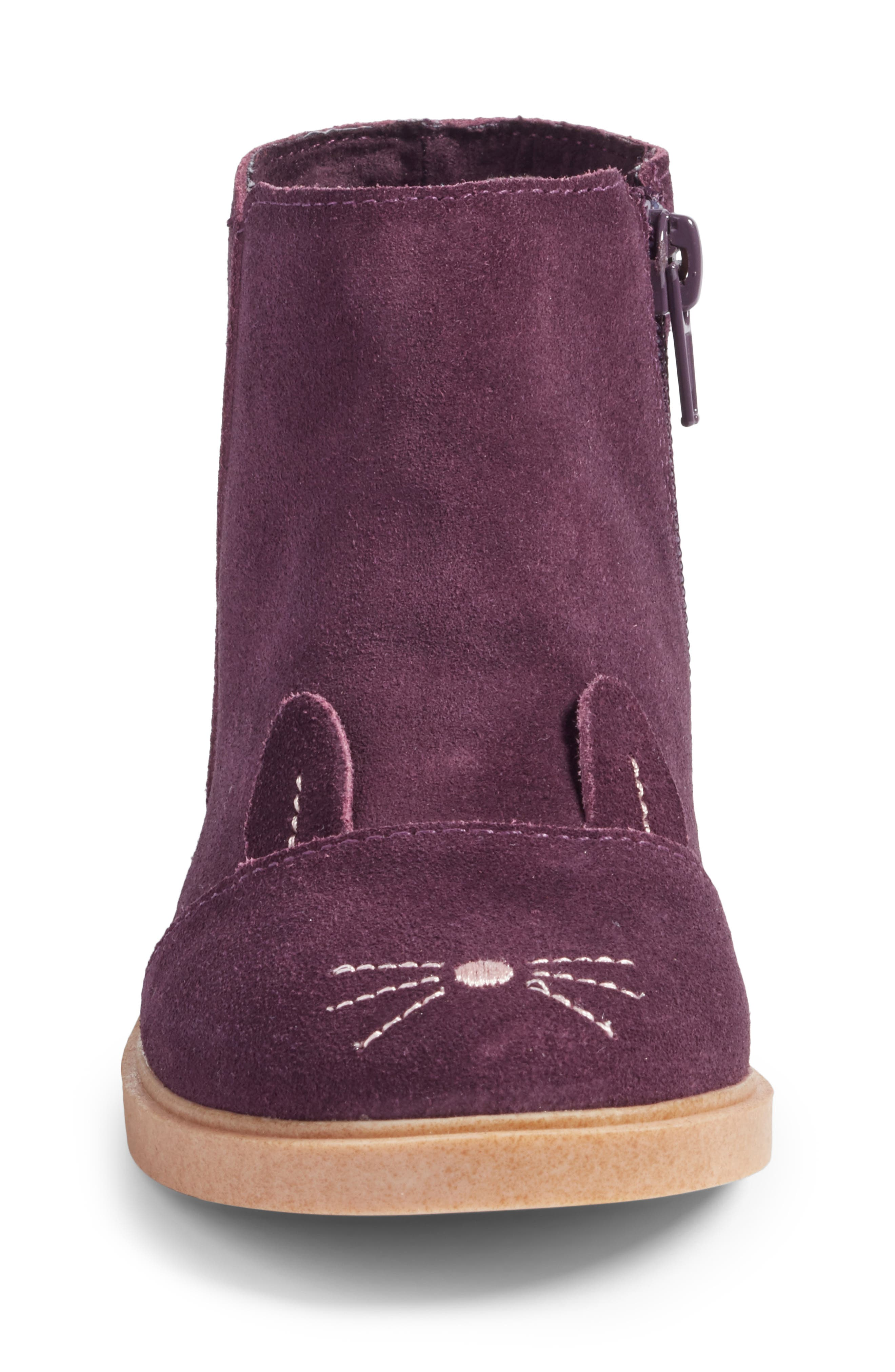 Bunny Boot,                             Alternate thumbnail 4, color,                             Berry Leather