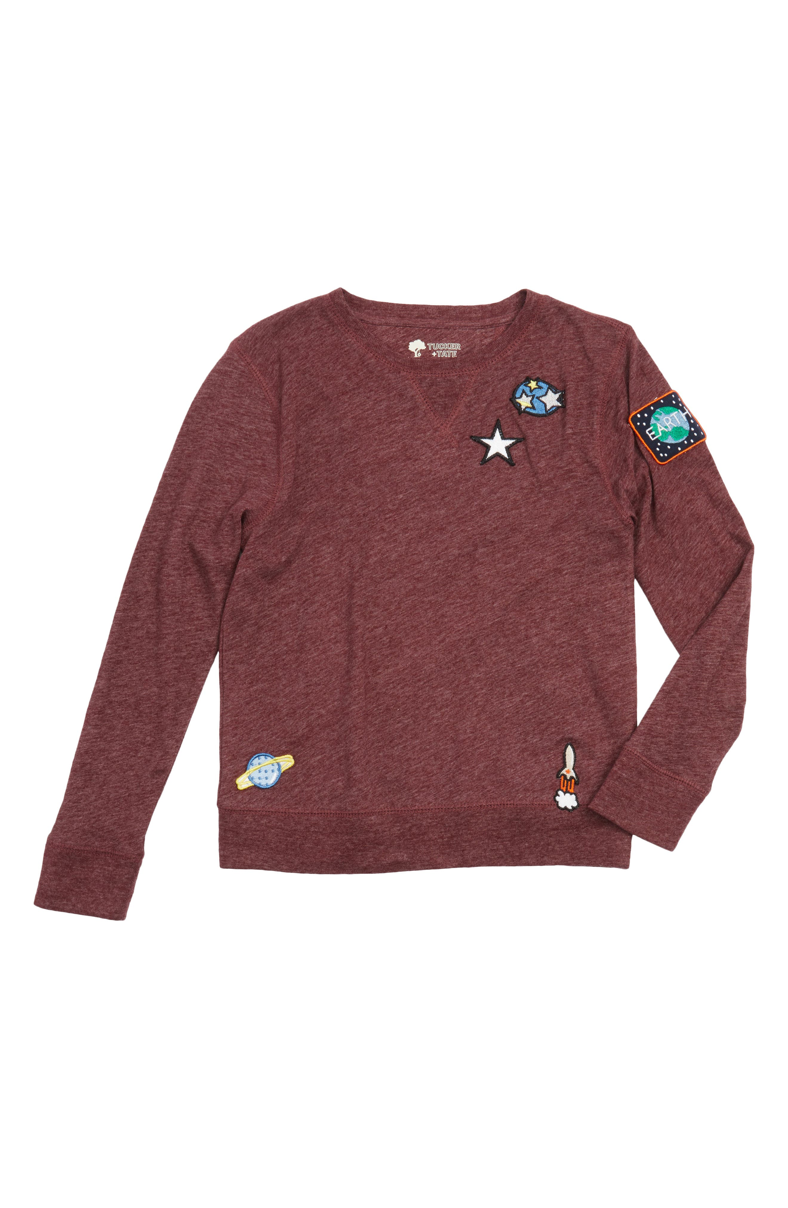 Main Image - Tucker + Tate Outer Space Appliquéd Long Sleeve T-Shirt (Toddler Boys & Little Boys)