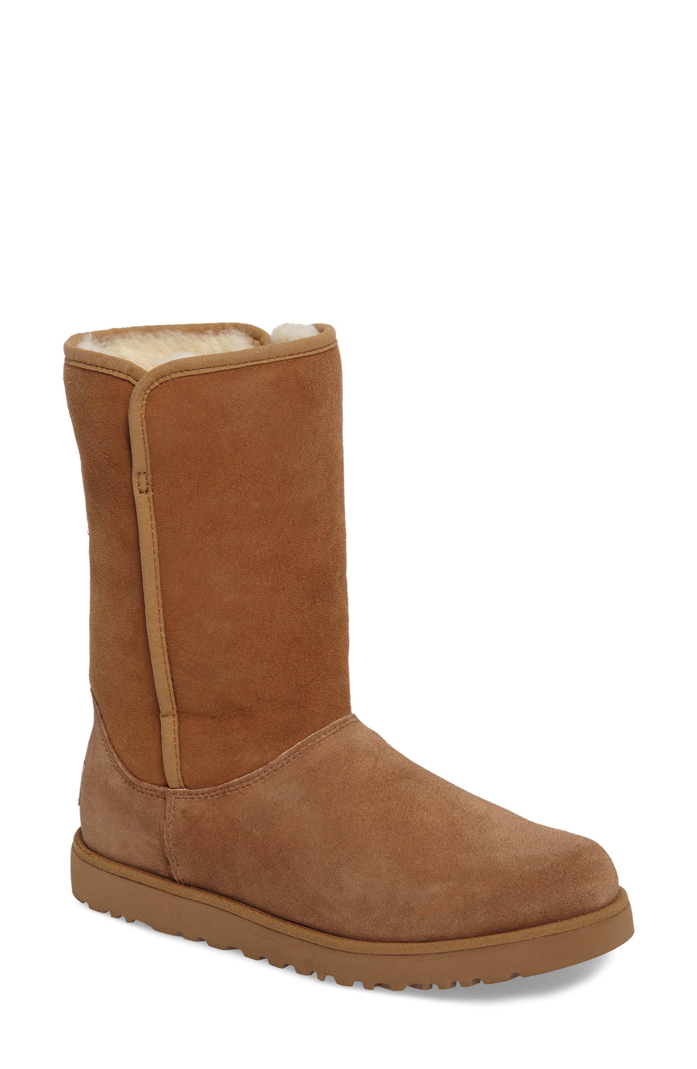 'Michelle' Boot,                         Main,                         color, Chestnut Suede