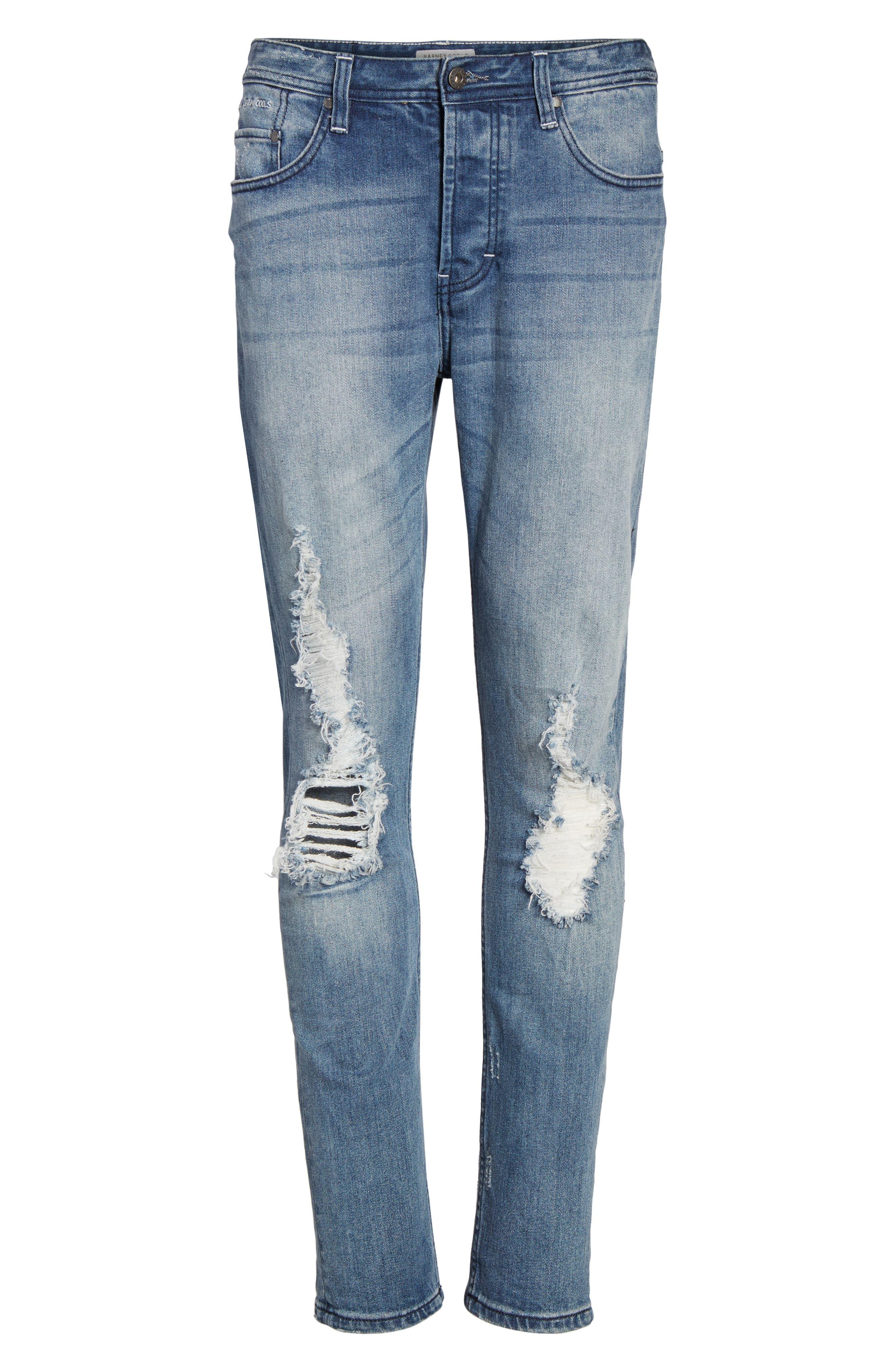 B.Line Slim Fit Jeans,                             Alternate thumbnail 6, color,                             Blow Out Stonewash