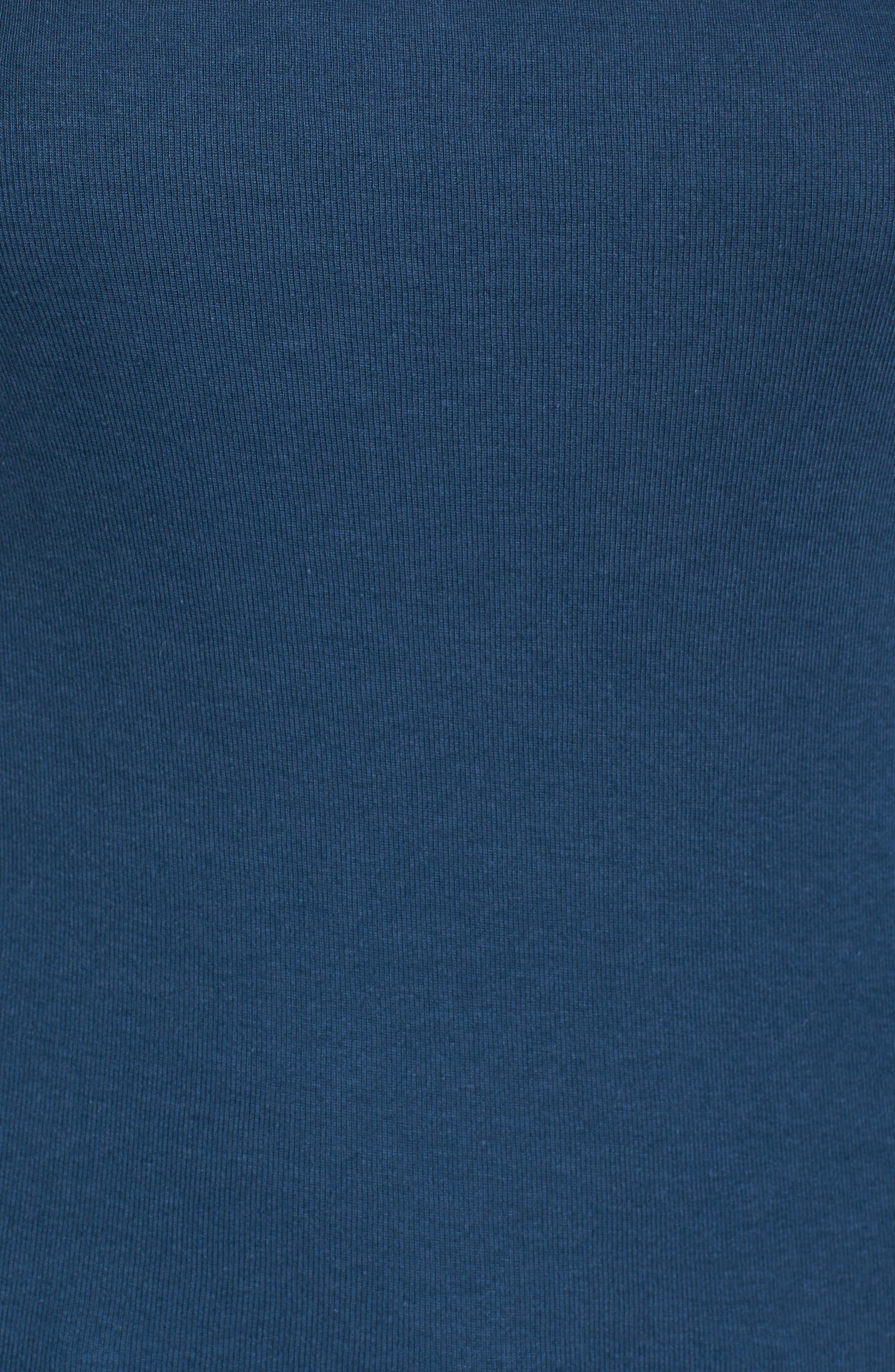 Three Quarter Sleeve Tee,                             Alternate thumbnail 6, color,                             Blue Wing