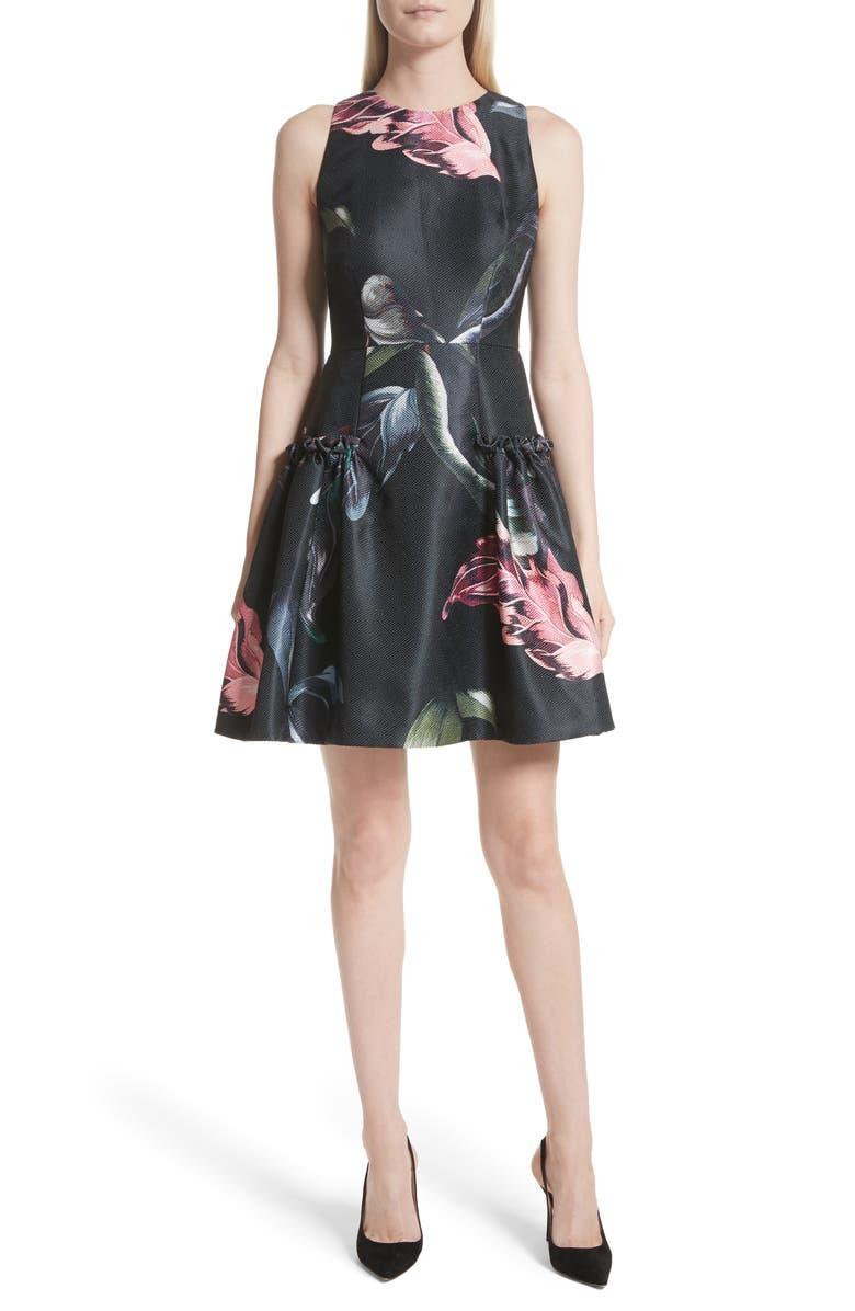 Sarahe Floral Fit  Flare Dress