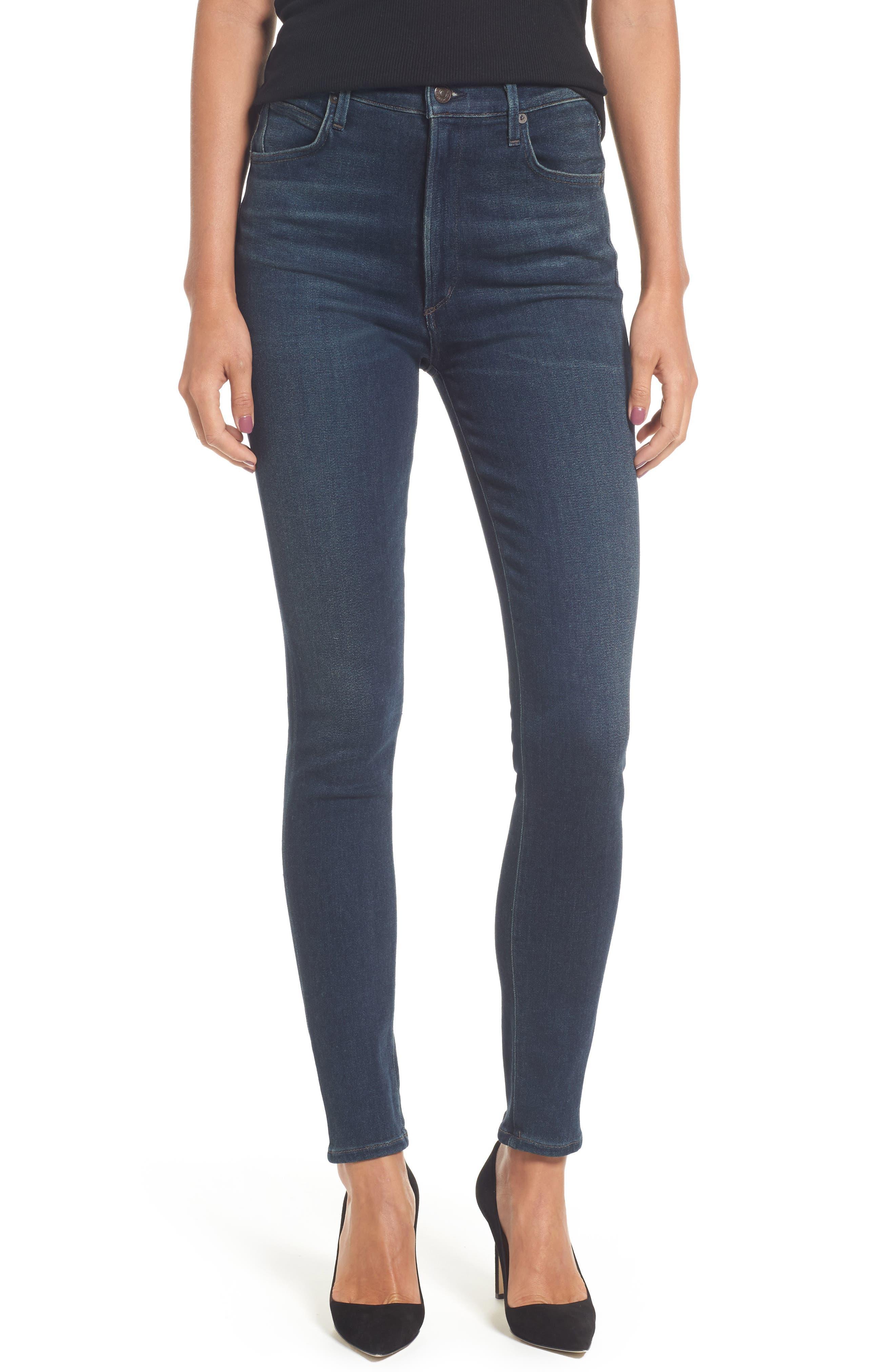 Chrissy High Waist Skinny Jeans,                         Main,                         color, Haze