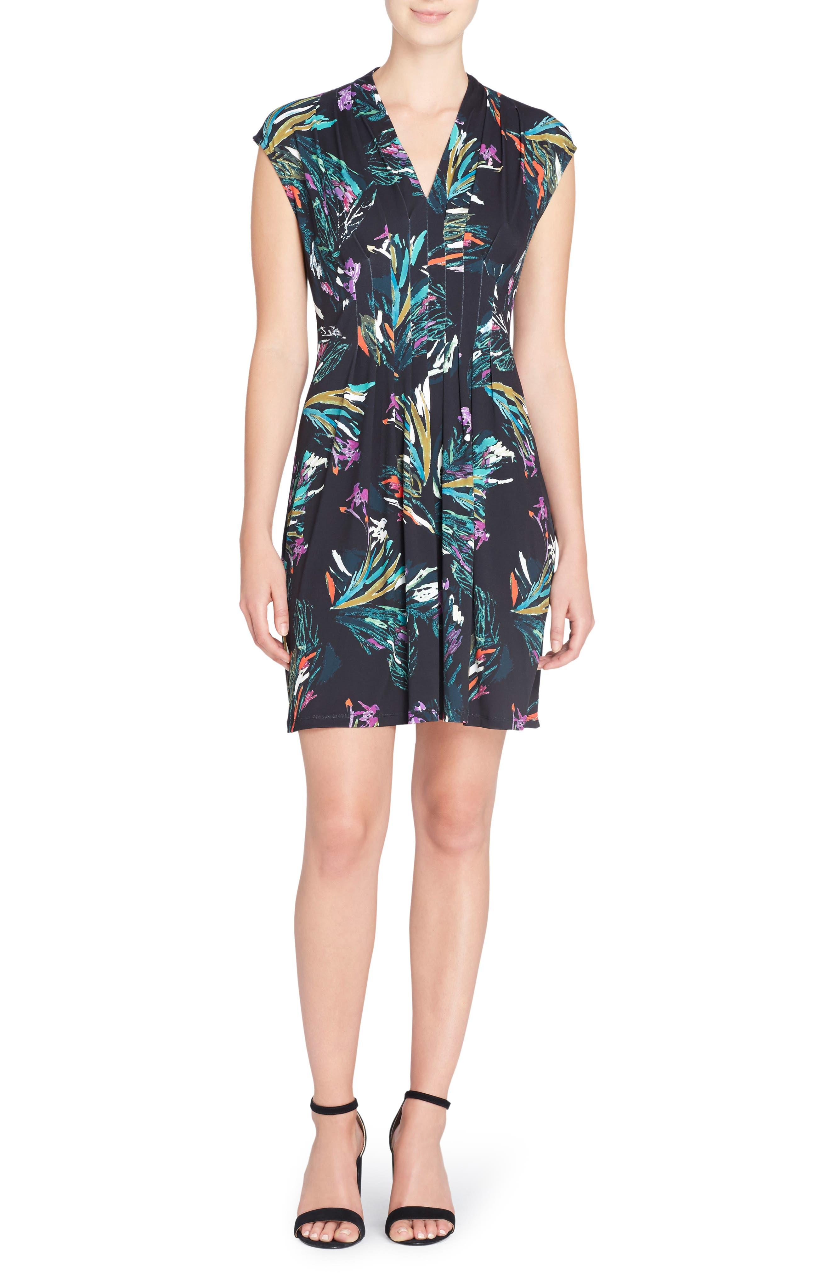 Catherine Catherine Malandrino Tinka Floral Print Fit & Flare Dress