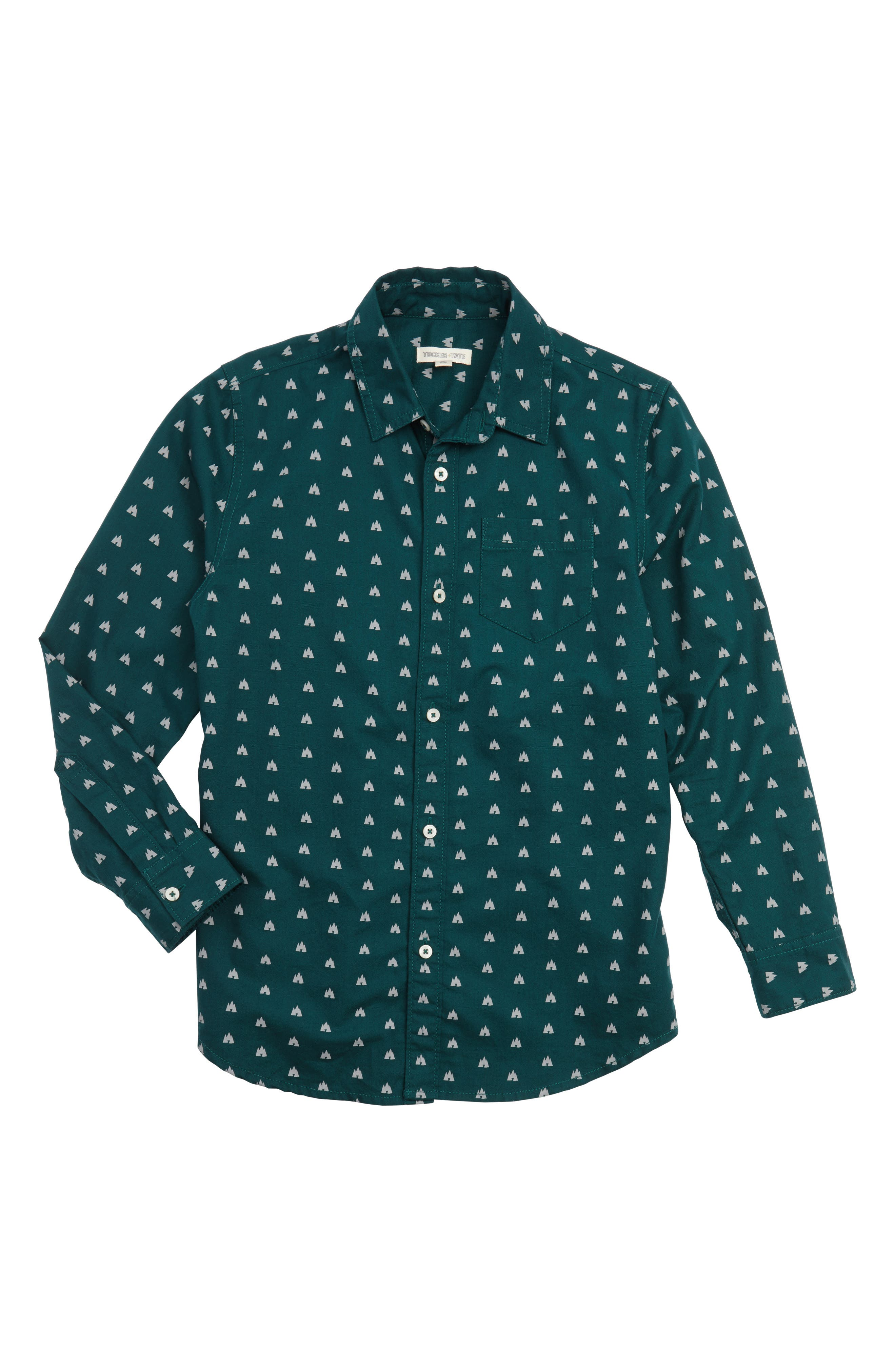 Pine Tree Sport Shirt,                         Main,                         color, Green Bug Camp Site