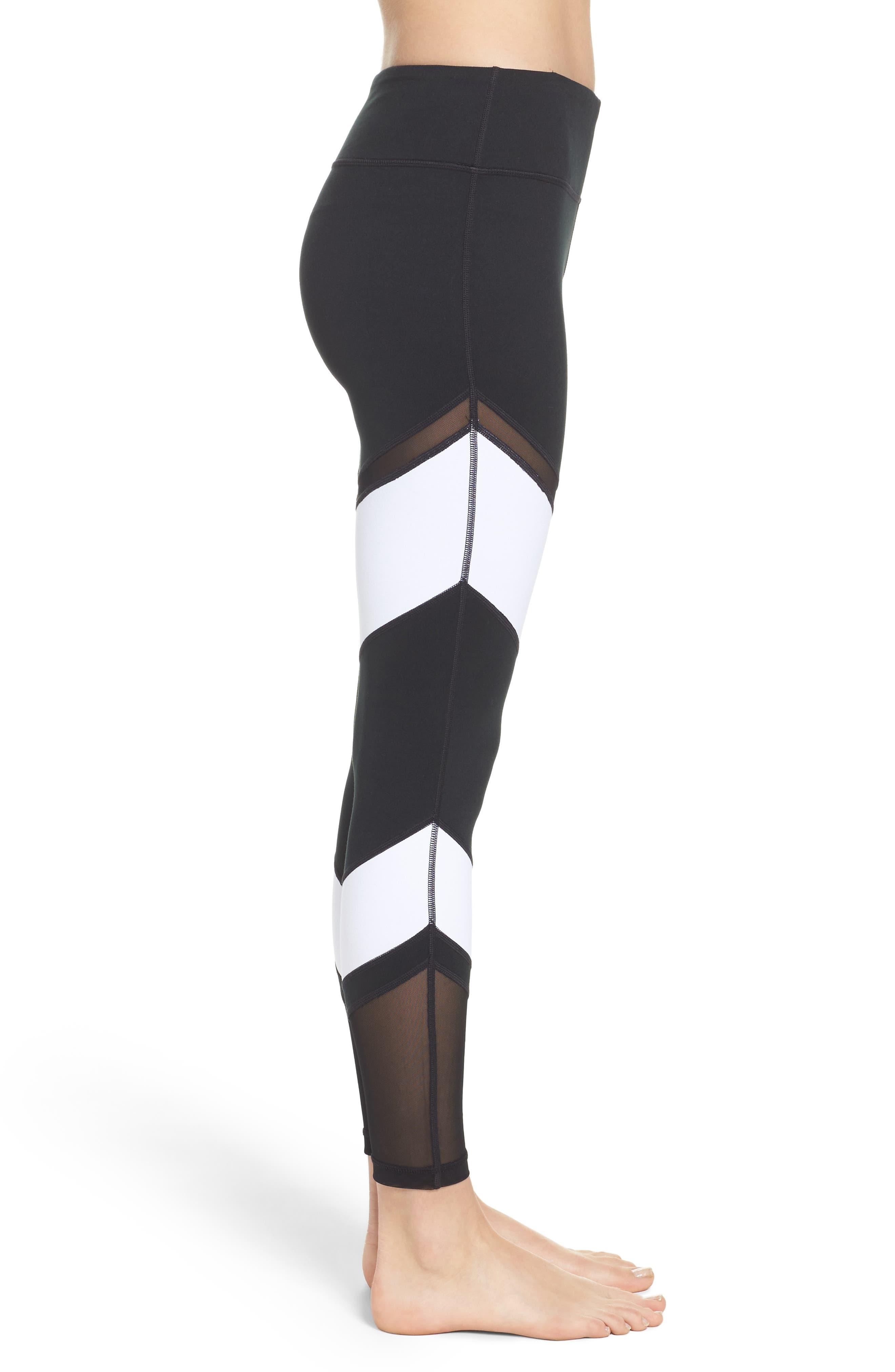 Epic Clean Block Ankle Leggings,                             Alternate thumbnail 4, color,                             Black