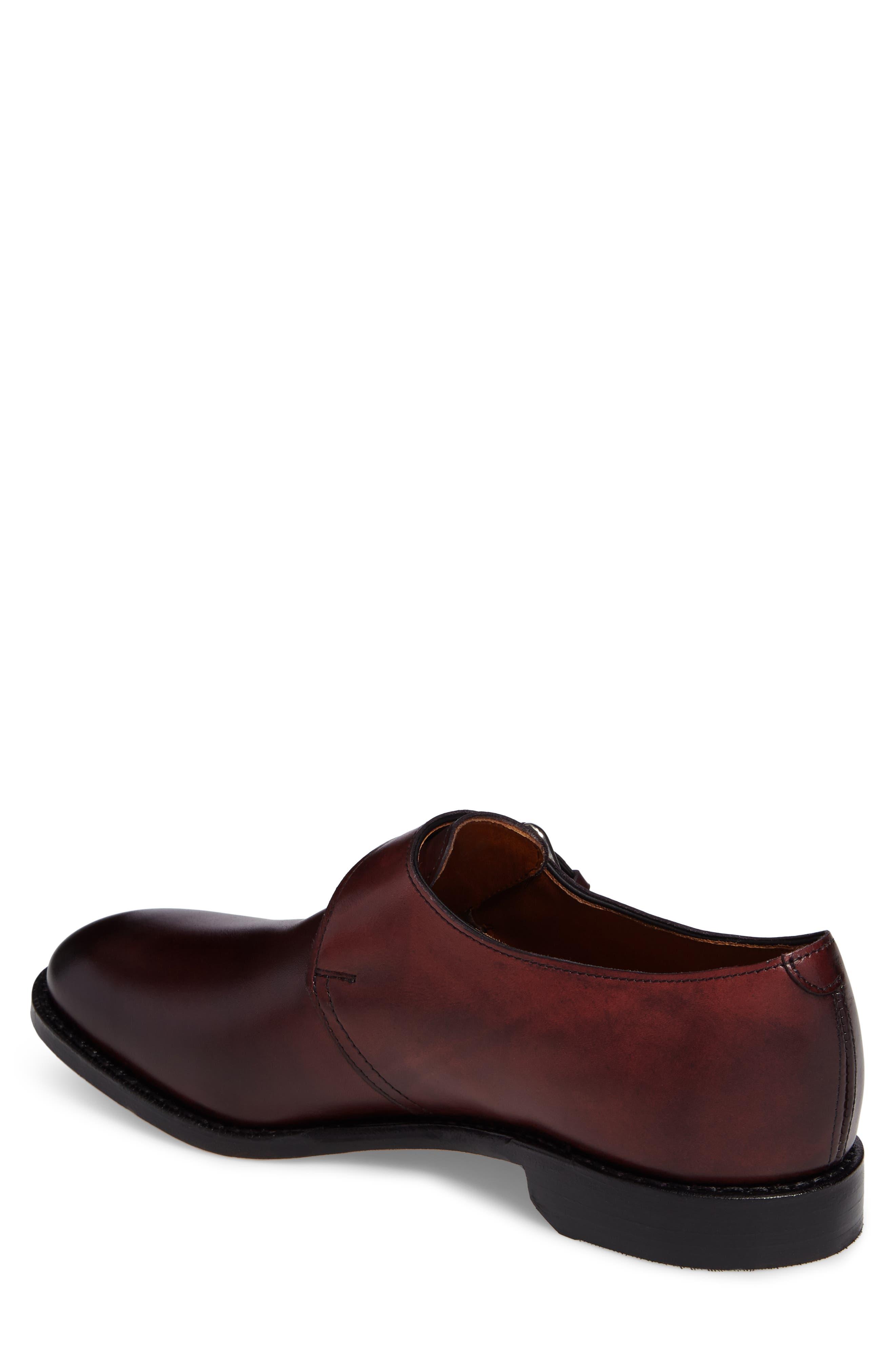 Warwick Monk Strap Shoe,                             Alternate thumbnail 2, color,                             Oxblood Leather