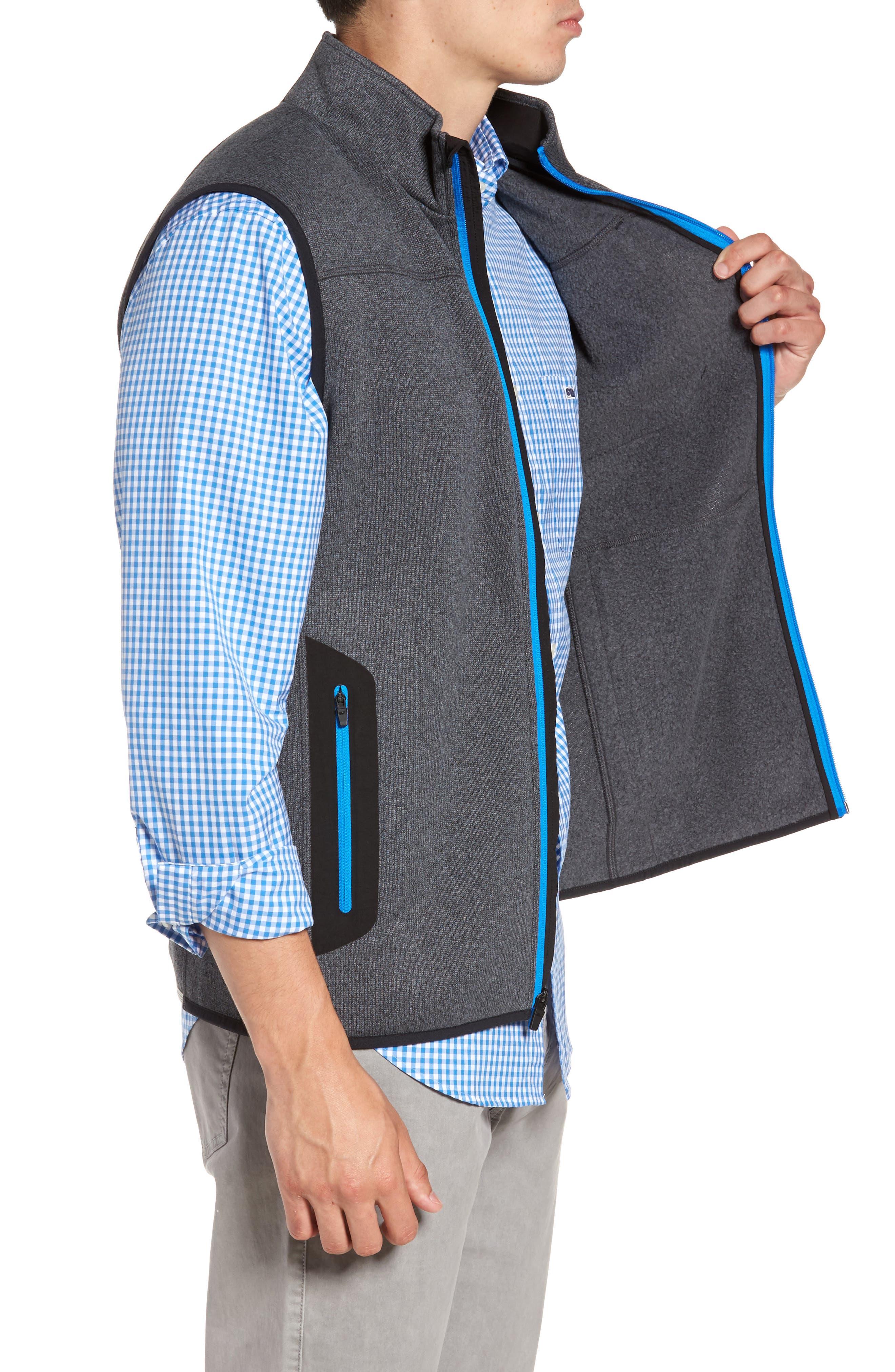 Tech Sweater Fleece Vest,                             Alternate thumbnail 4, color,                             Charcoal