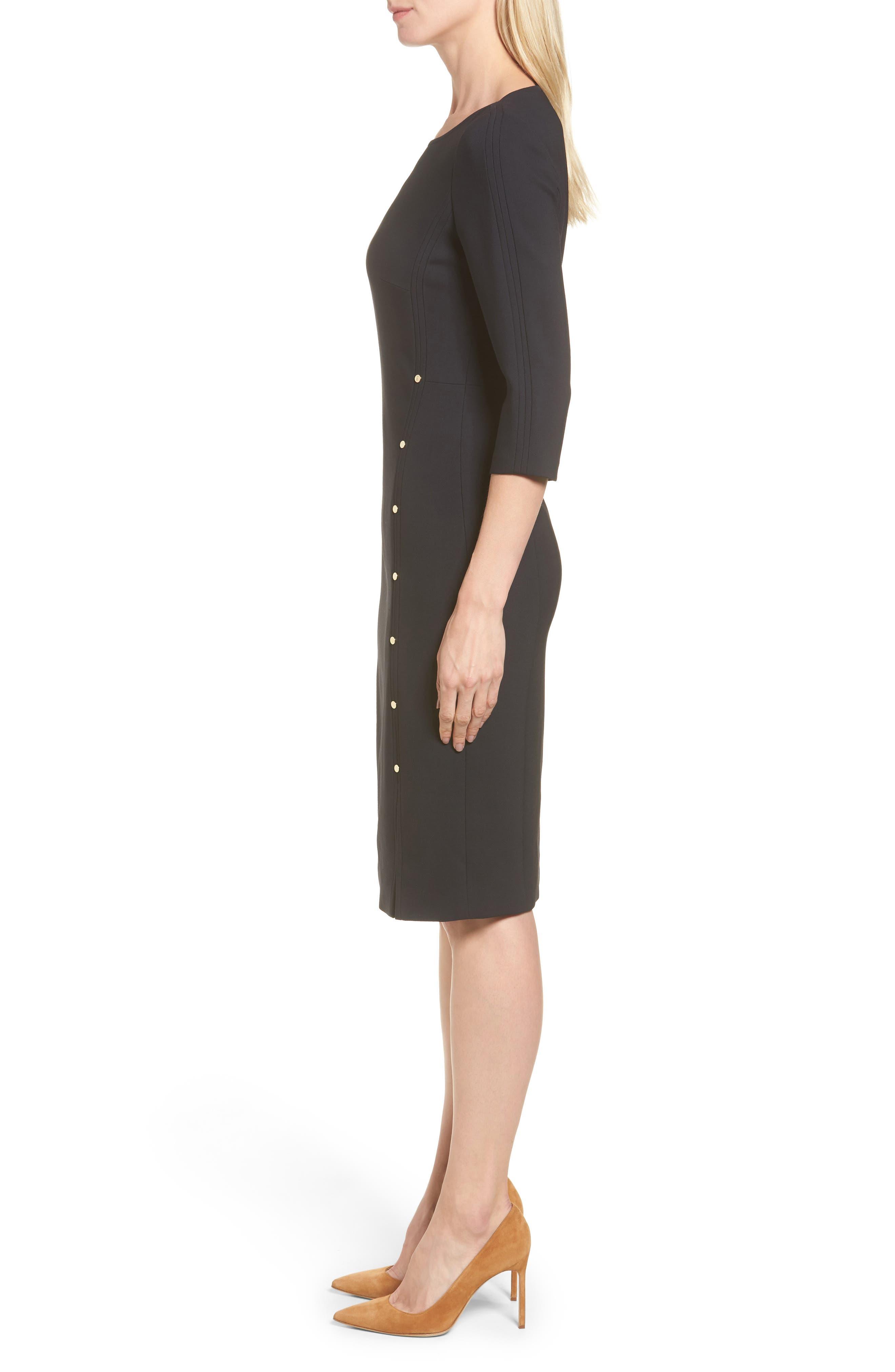 Alternate Image 3  - BOSS Dikena Wool Sheath Dress