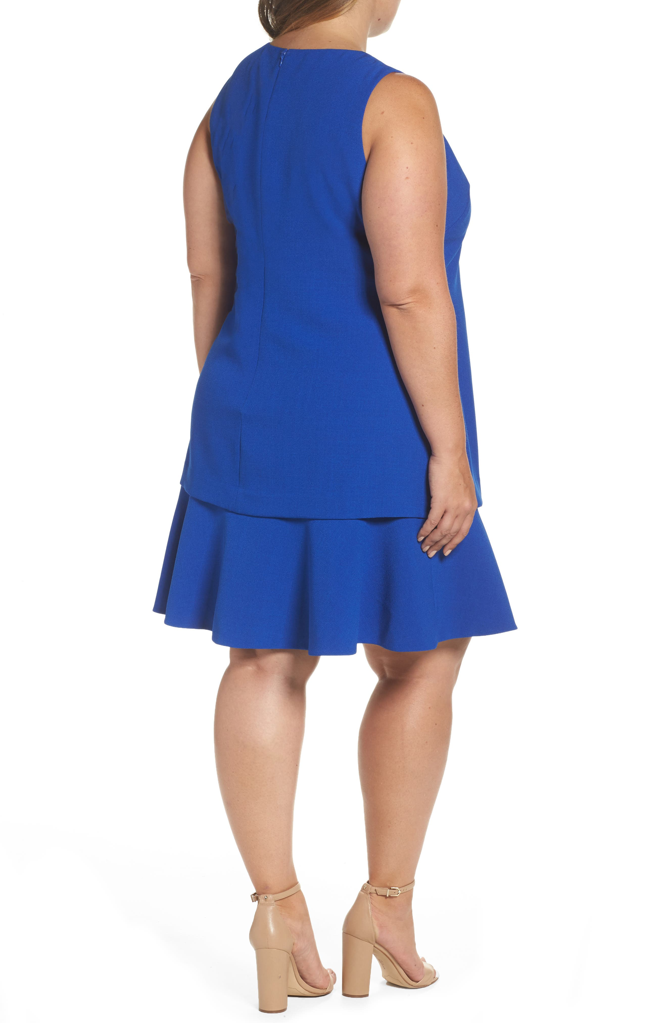 Alternate Image 3  - Eliza J Tiered Drop Waist A-Line Dress (Plus Size)