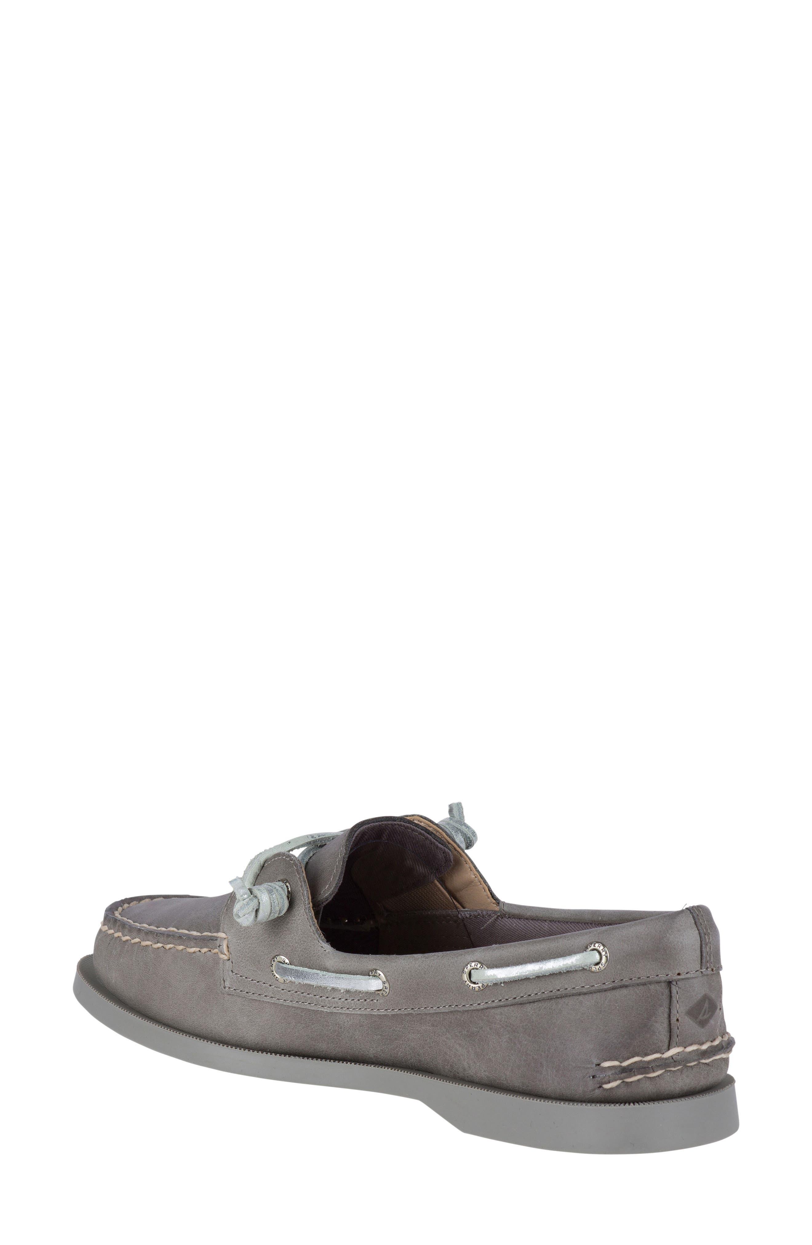 Vida Boat Shoe,                             Alternate thumbnail 2, color,                             Driftwood Leather