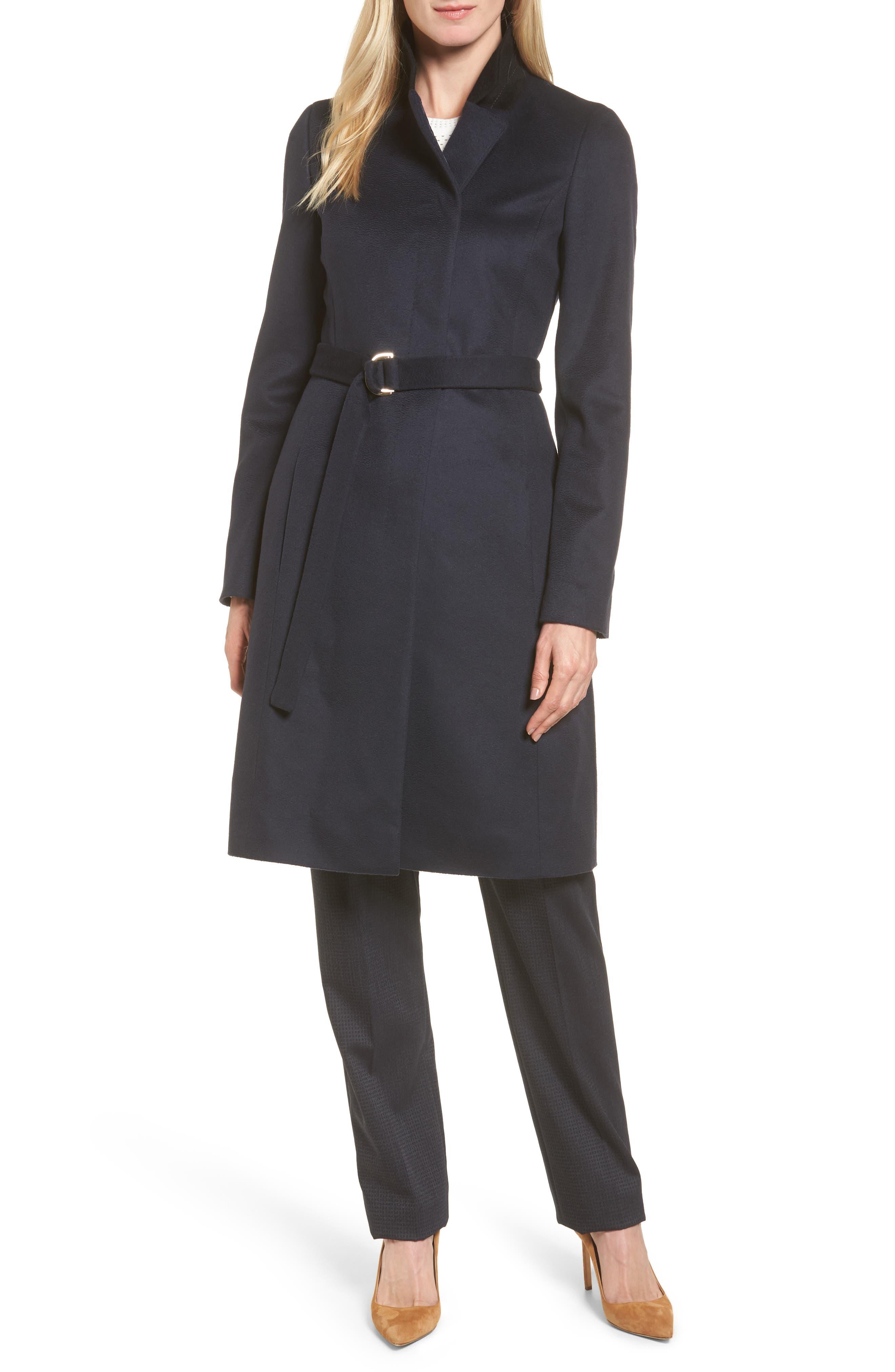 Cargona Wool Coat,                         Main,                         color, Navy