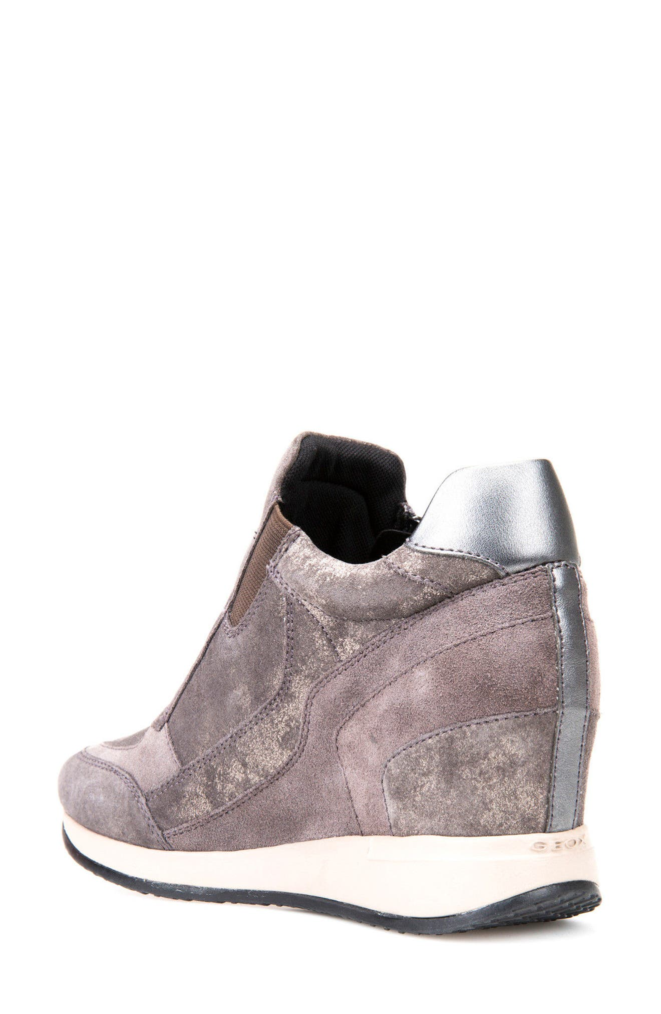 Nydame Wedge Sneaker,                             Alternate thumbnail 2, color,                             Dark Grey Leather